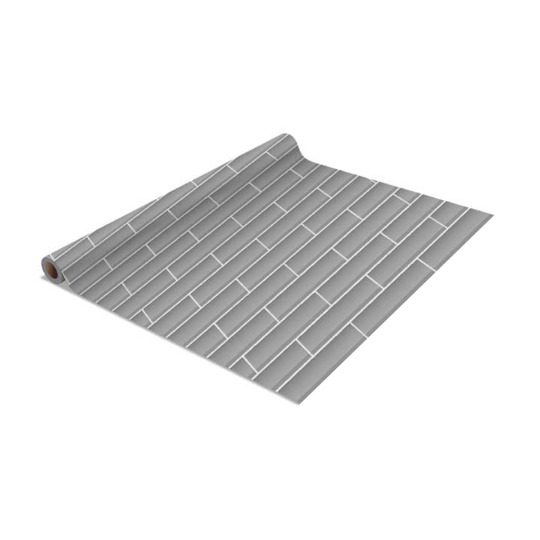 Shop 2 Pack Subway Tile Self Adhesive Shelf Liner In Grey Free
