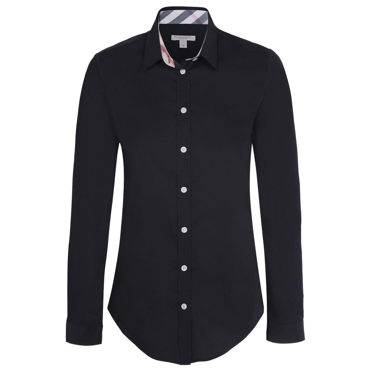 Shop Womens Burberry Black Dress Shirt Free Shipping Today