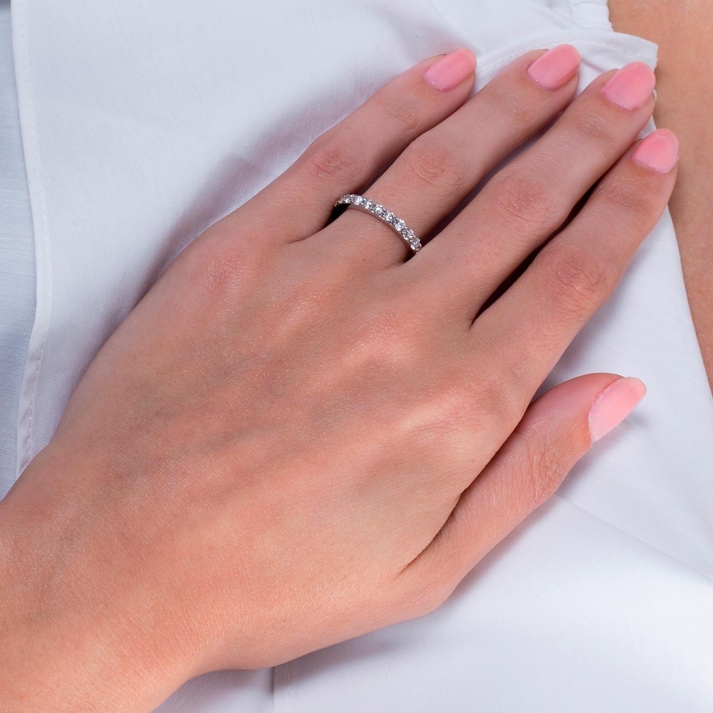 14K White Gold 1 1/2ct TDW Diamond Luxurious Eternity Wedding Ring ...