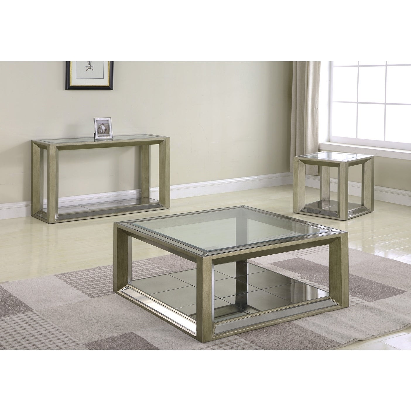 Shop Best Master Furniture Pascual Glass Coffee Table Free - Pascual coffee table