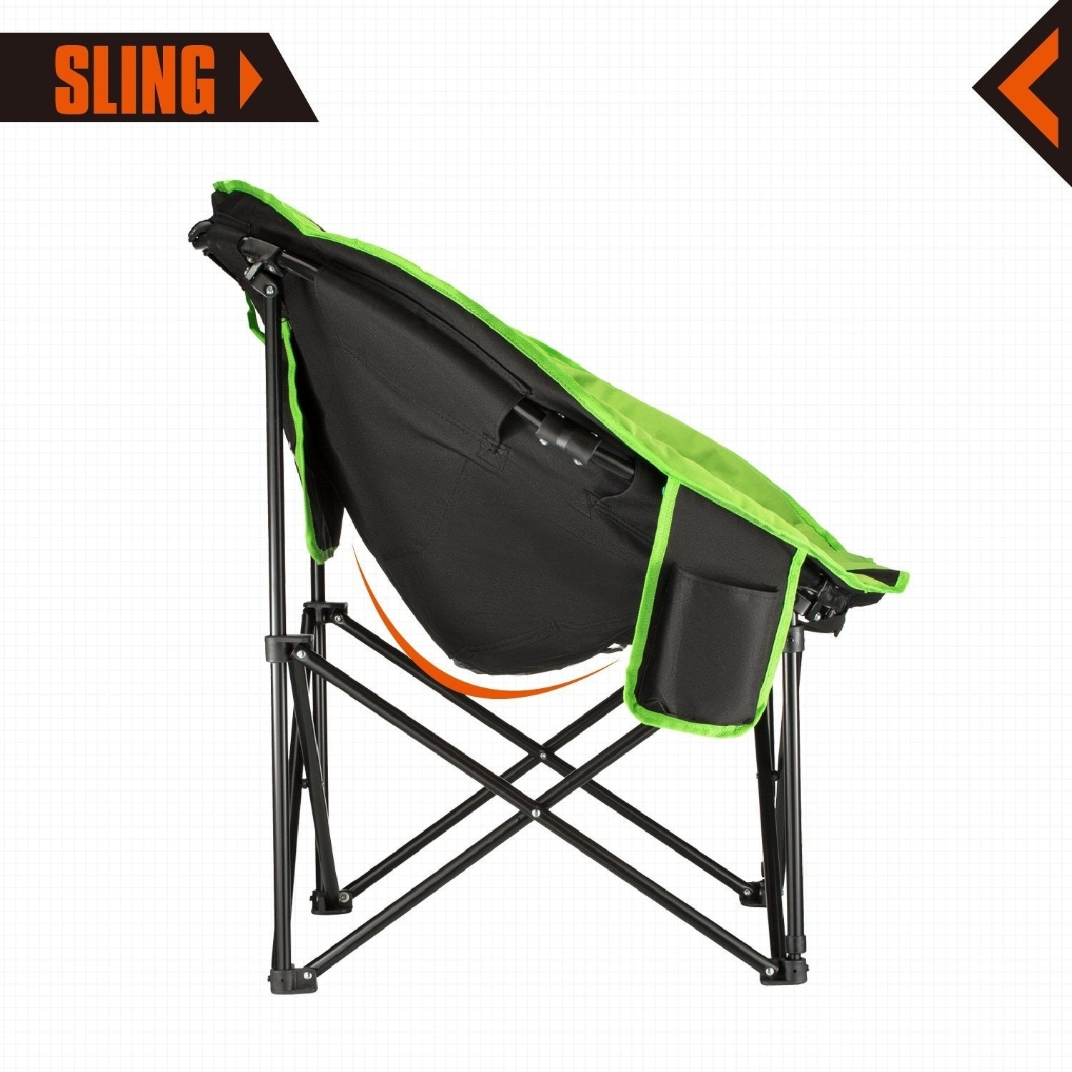 Kingcamp moon saucer camping chair steel frame folding padded kingcamp moon saucer camping chair steel frame folding padded round portable stable with carry bag free shipping today overstock 26493467 jeuxipadfo Choice Image