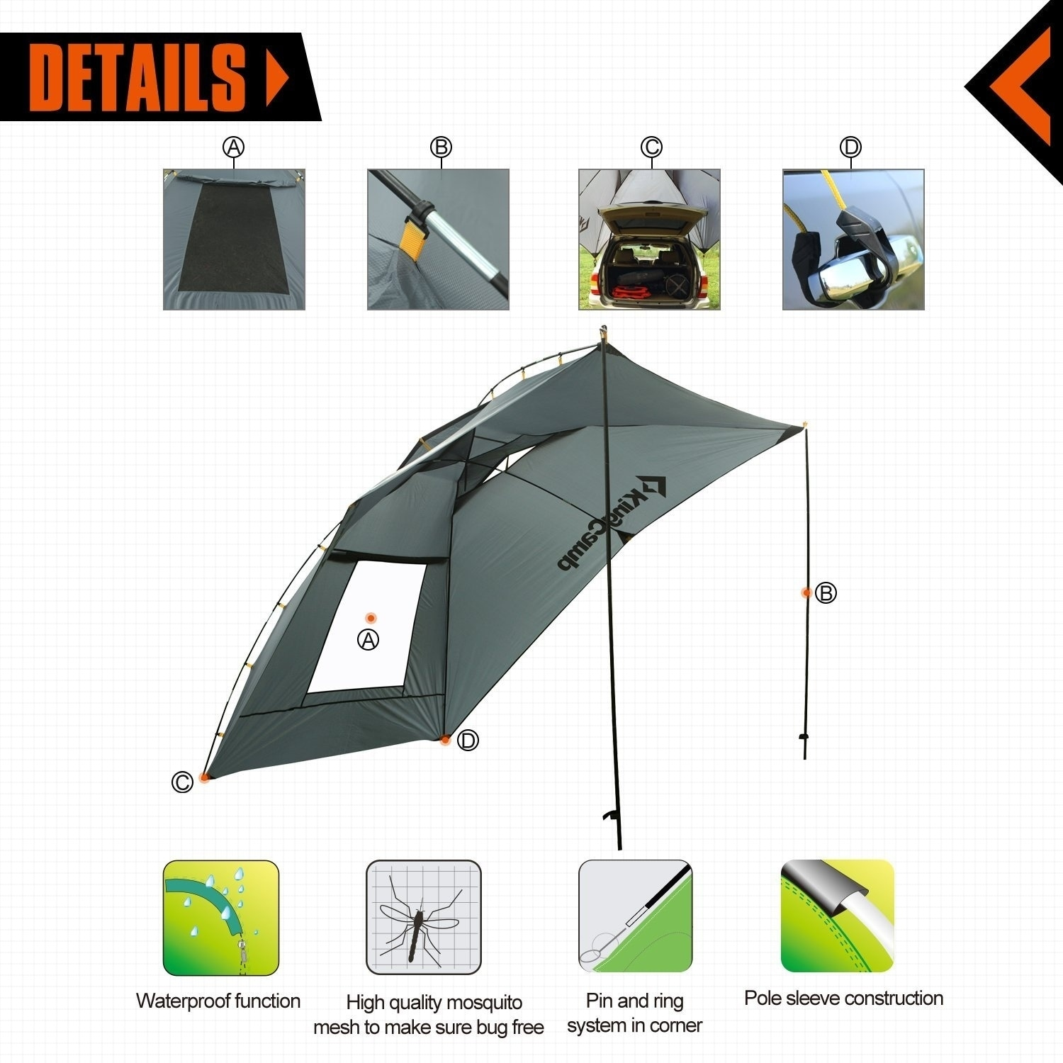 beach waterproof outdoor canvas awning car canopy collapsible tent china truck side ajmntqwzqrhv productimage roof