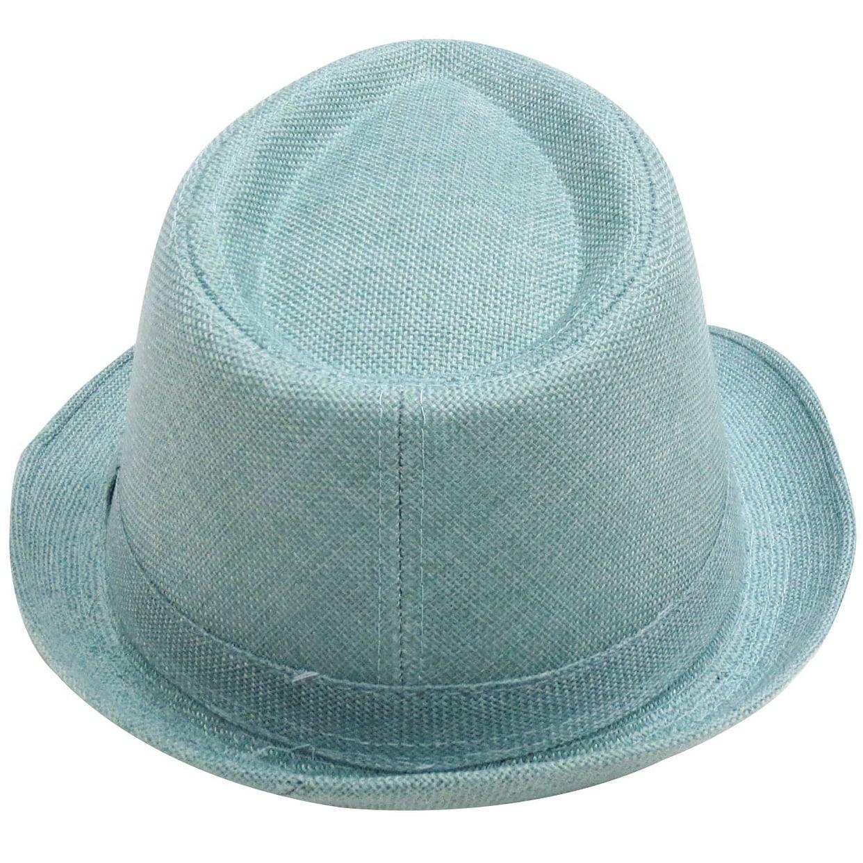 Shop Women Men Summer Gangster Trilby Straw Fedora Hat Cap W  Brim ... 55a43a863edf