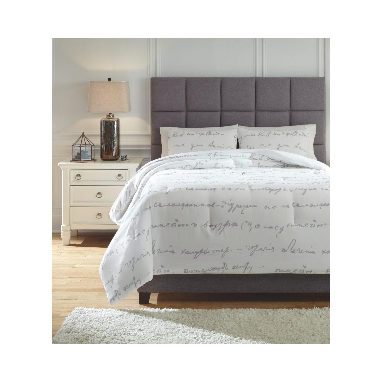 Shop Signature Design By Ashley Adrianna 3 Piece Comforter Set