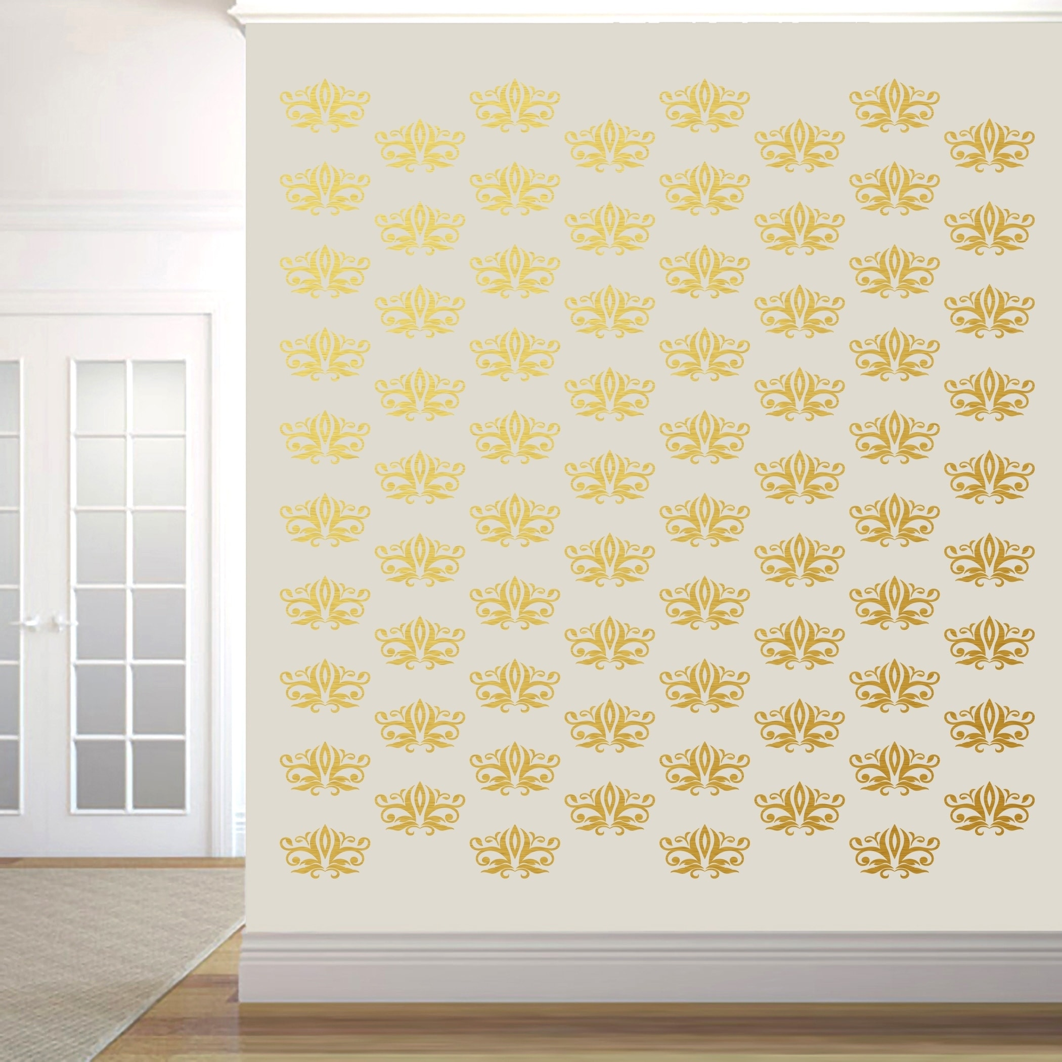 Beautiful Damask Wall Art Image Collection - Wall Art Collections ...