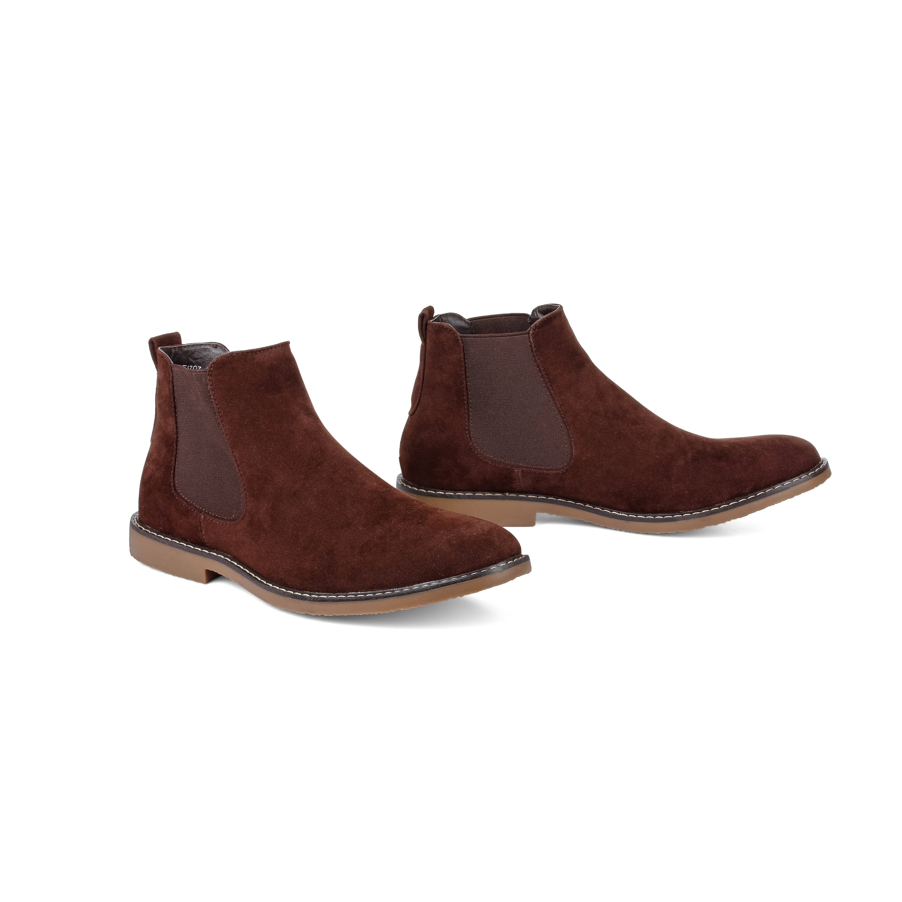 343d1919c Shop Miko Lotti Men's Suede Ankle Chelsea Boots - On Sale - Free Shipping  Today - Overstock - 20664774