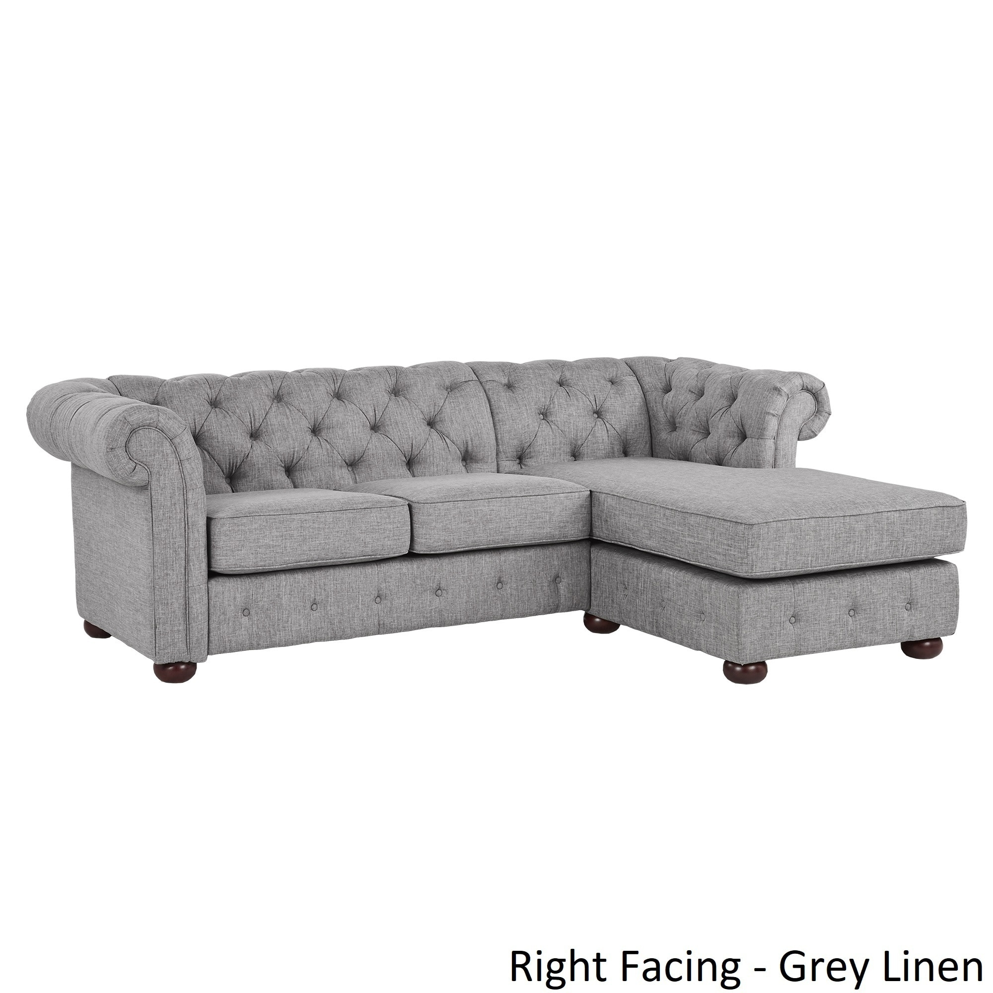 Genial Shop Knightsbridge Tufted Scroll Arm Chesterfield 3 Seat Sofa And Chaise By  INSPIRE Q Artisan   On Sale   Free Shipping Today   Overstock.com   20666781
