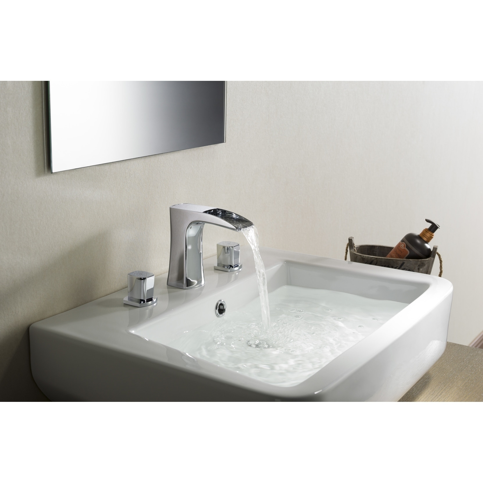 Shop Stufurhome Cascade Bathroom Sink Faucet Set in Matte Black ...