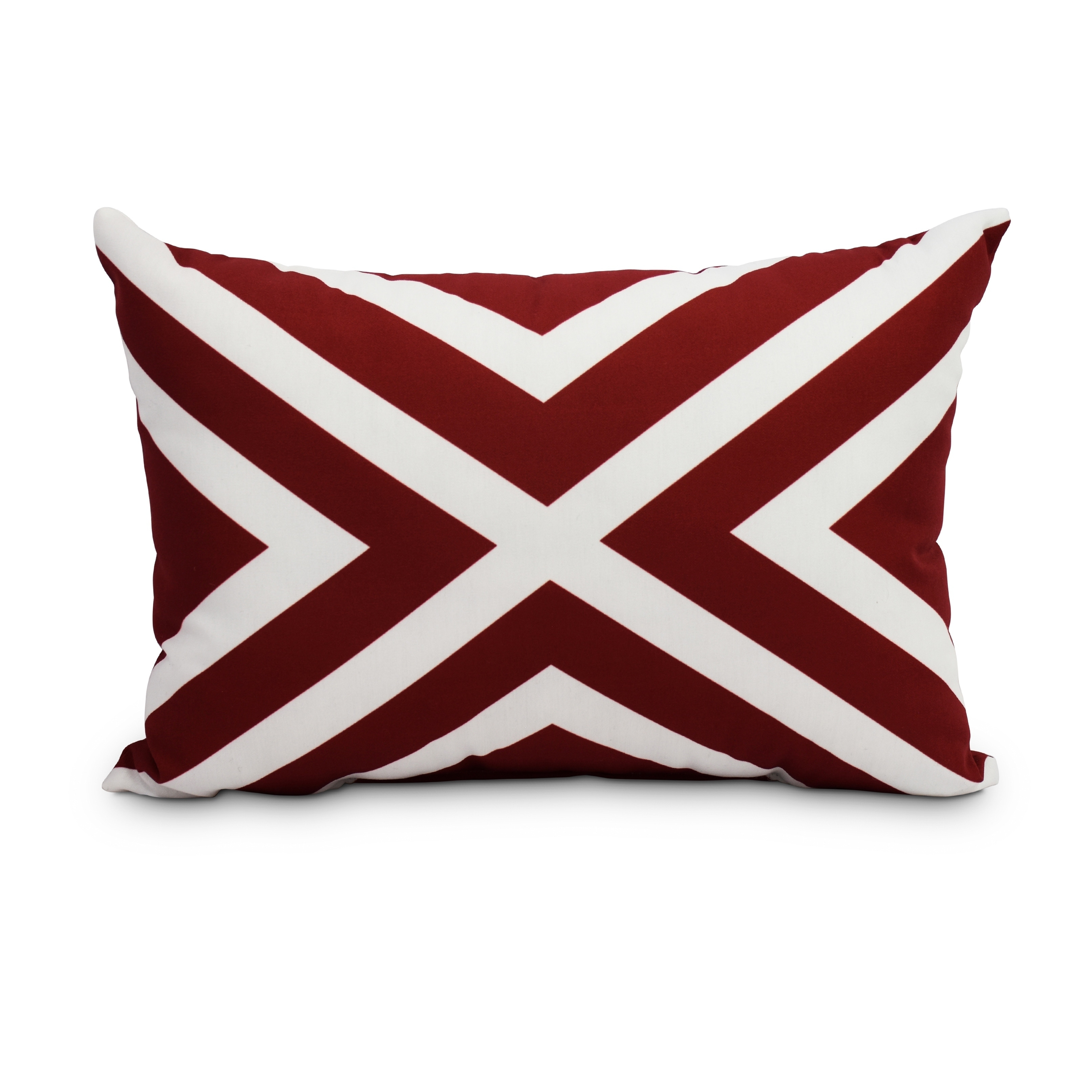 Shop 14 X 20 Inch Red Decorative Striped Outdoor Throw Pillow Free