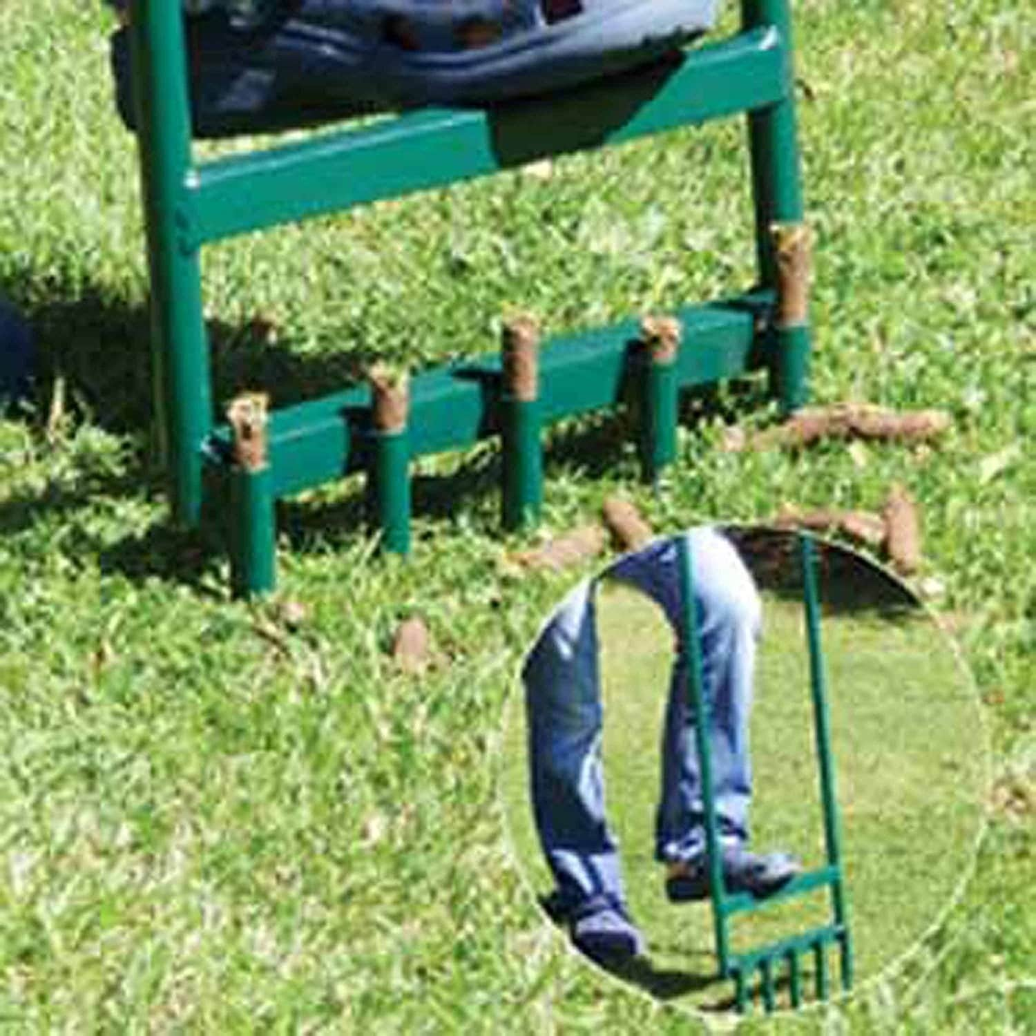ALEKO Steel Hollow Tine Garden Green Lawn Aerator With 5 Tines   Free  Shipping On Orders Over $45   Overstock   26508299
