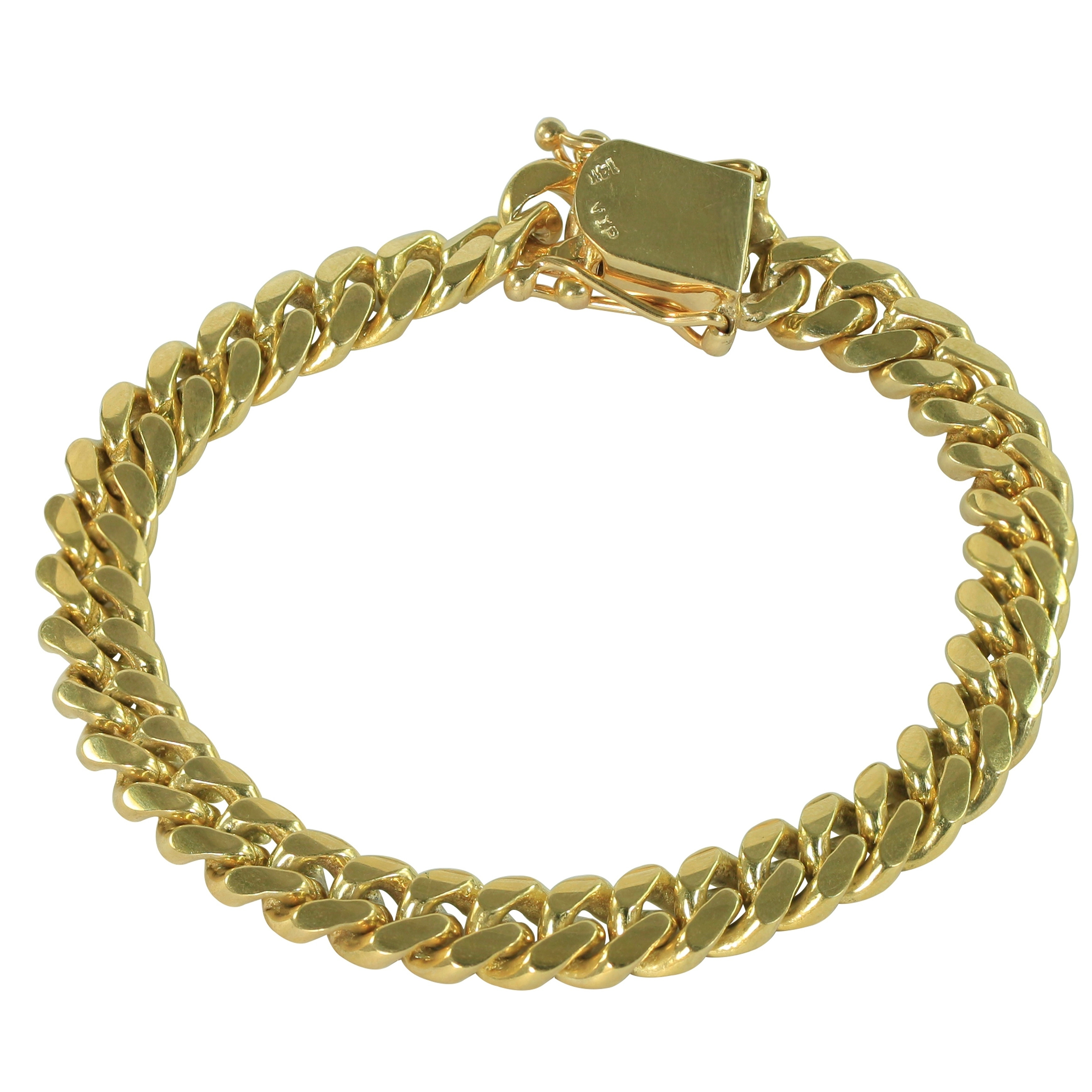 736a905529b15 SOLID 14k Yellow Gold 8.5 Inch Miami Cuban Link Bracelet 9 MM , 51.2 Grams