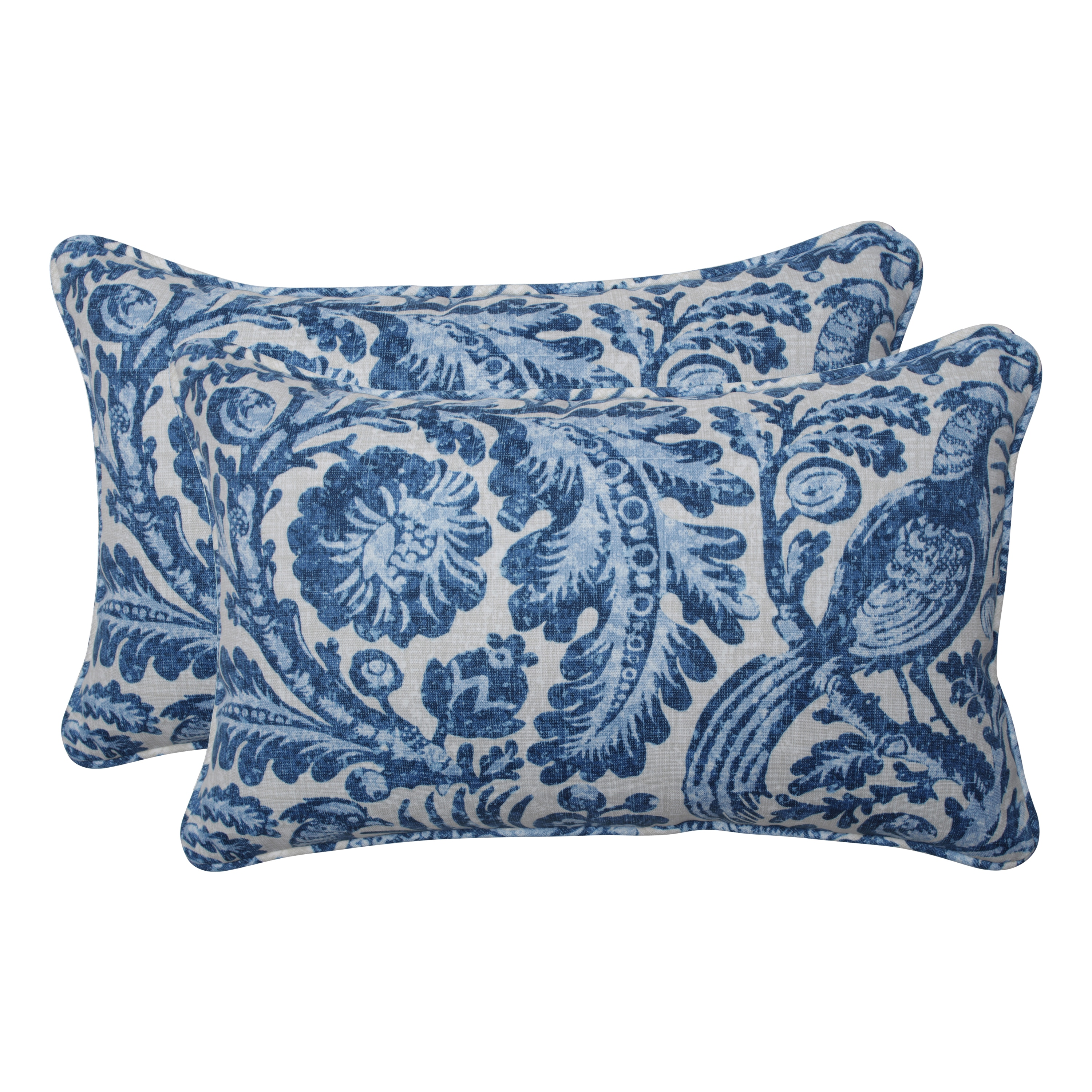 Shop Pillow Perfect Outdoor Indoor Tucker Resist Azure Blue