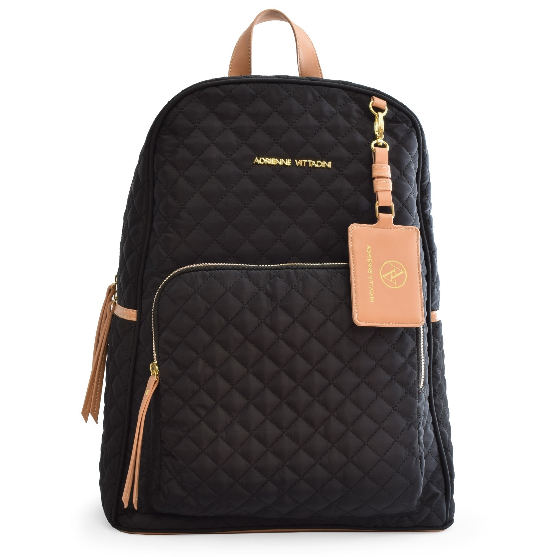 Shop Adrienne Vittadini Quilted Backpack with 13 Inch Padded Laptop  Sleeve-Black - Free Shipping Today - Overstock.com - 20678300 0633a4fde3