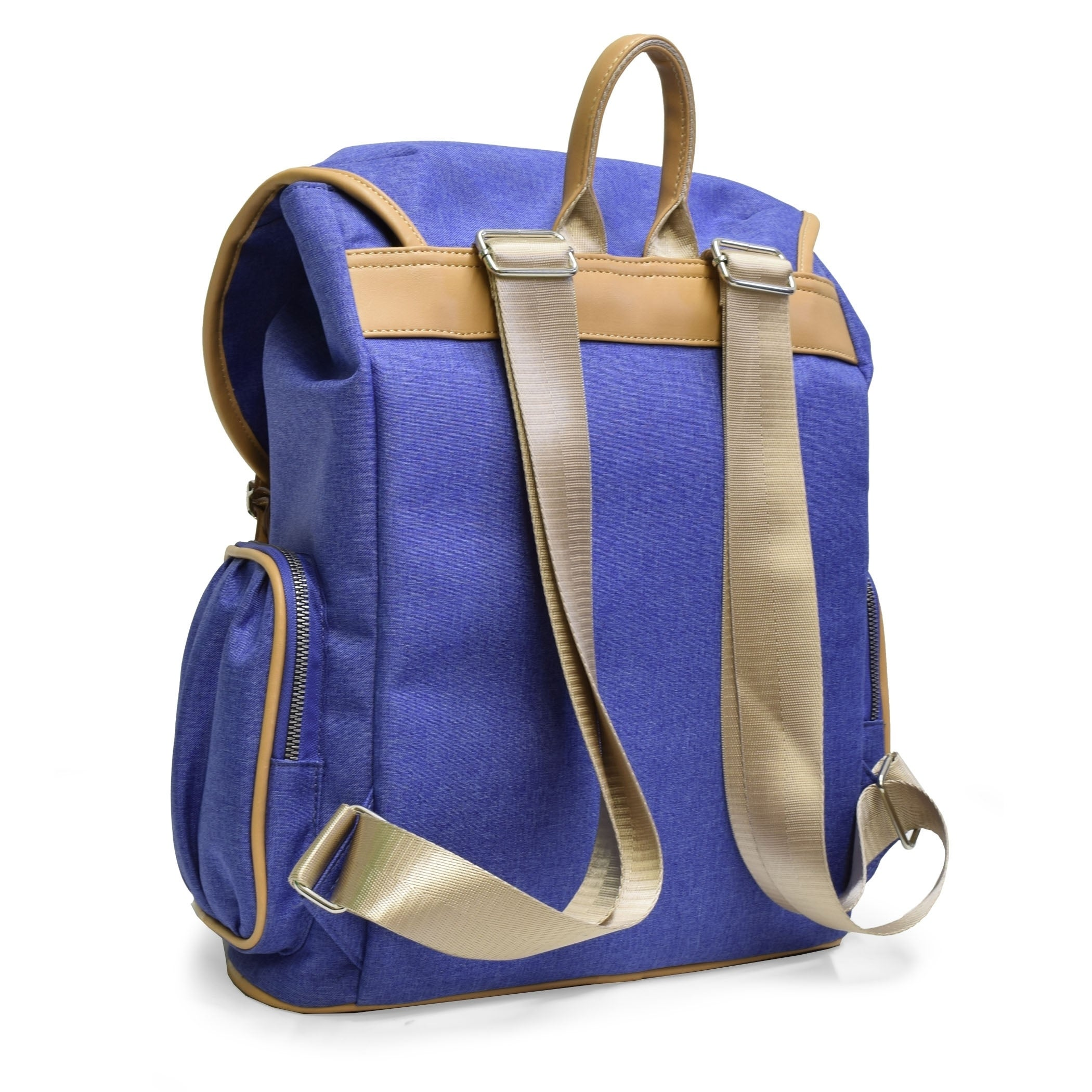 c1e4a125028 Shop Adrienne Vittadini Two-Tone Nylon Collection Backpack-Denim Blue - On  Sale - Free Shipping Today - Overstock.com - 20678304