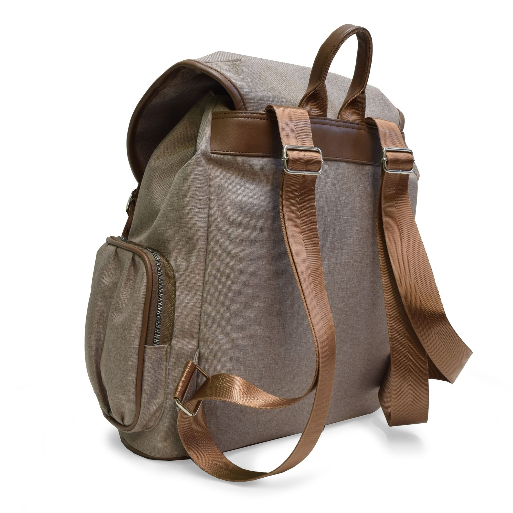 9fb5f94212f Shop Adrienne Vittadini Two-Tone Nylon Collection Backpack-Natural - On  Sale - Free Shipping Today - Overstock.com - 20678310