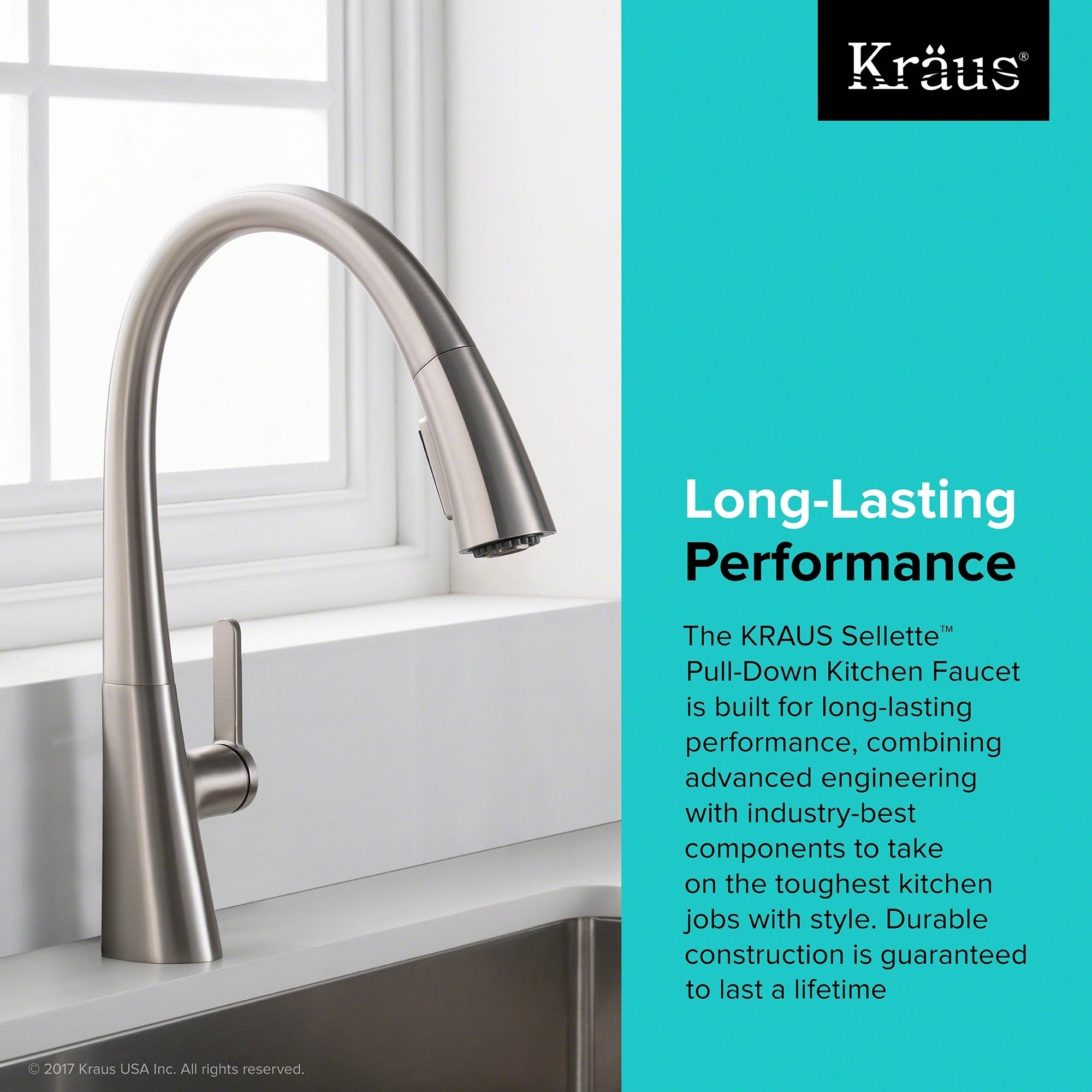Shop KRAUS Nolen™ Single Handle Pull Down Kitchen Faucet with 2 ...