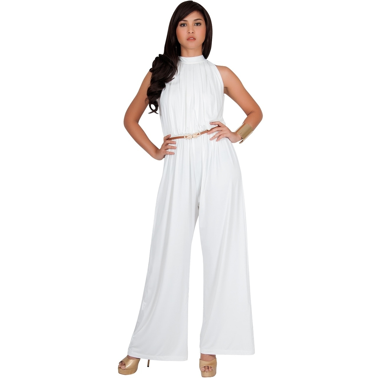 29f95d8b2b14 Shop KOH KOH Women Beautiful Sleeveless Halter Neck Casual Work Jumpsuits -  Free Shipping On Orders Over  45 - Overstock - 20680114