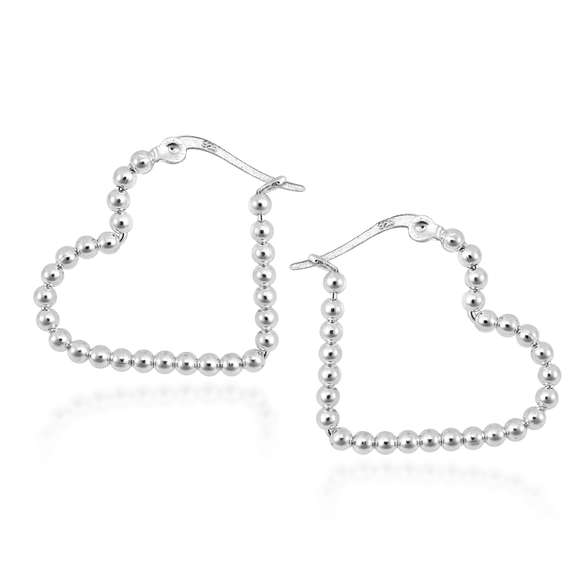 earrings graff pair collections heart diamond of a shape stud classic