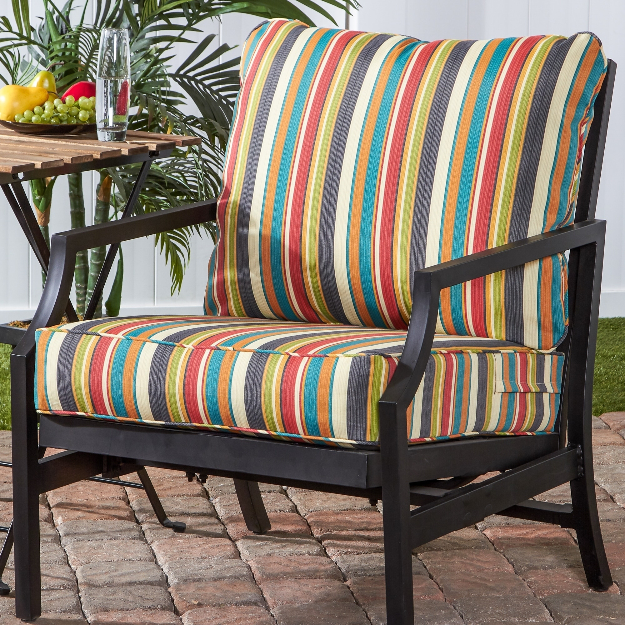Shop Greendale Deep Seat Outdoor Back And Seat Cushion Set Free