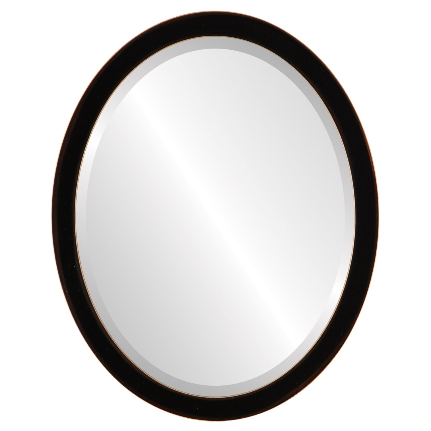 Shop Manhattan Framed Oval Mirror in Rubbed Black - Free Shipping ...