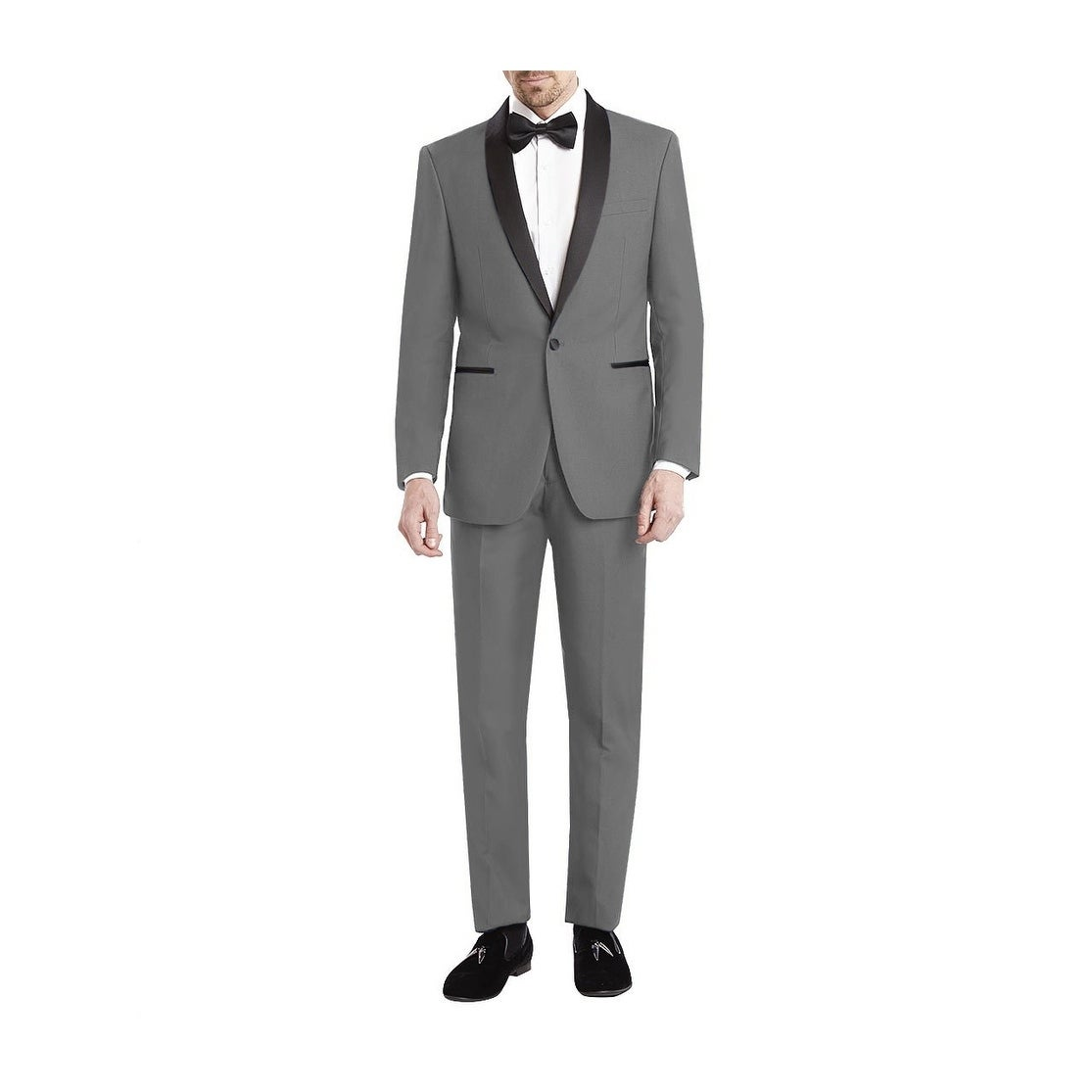 5886d7d087a Shop Gino Vitale Shawl Collar 2 Piece Slim Fit Tuxedo - Free Shipping On  Orders Over $45 - Overstock - 20685643