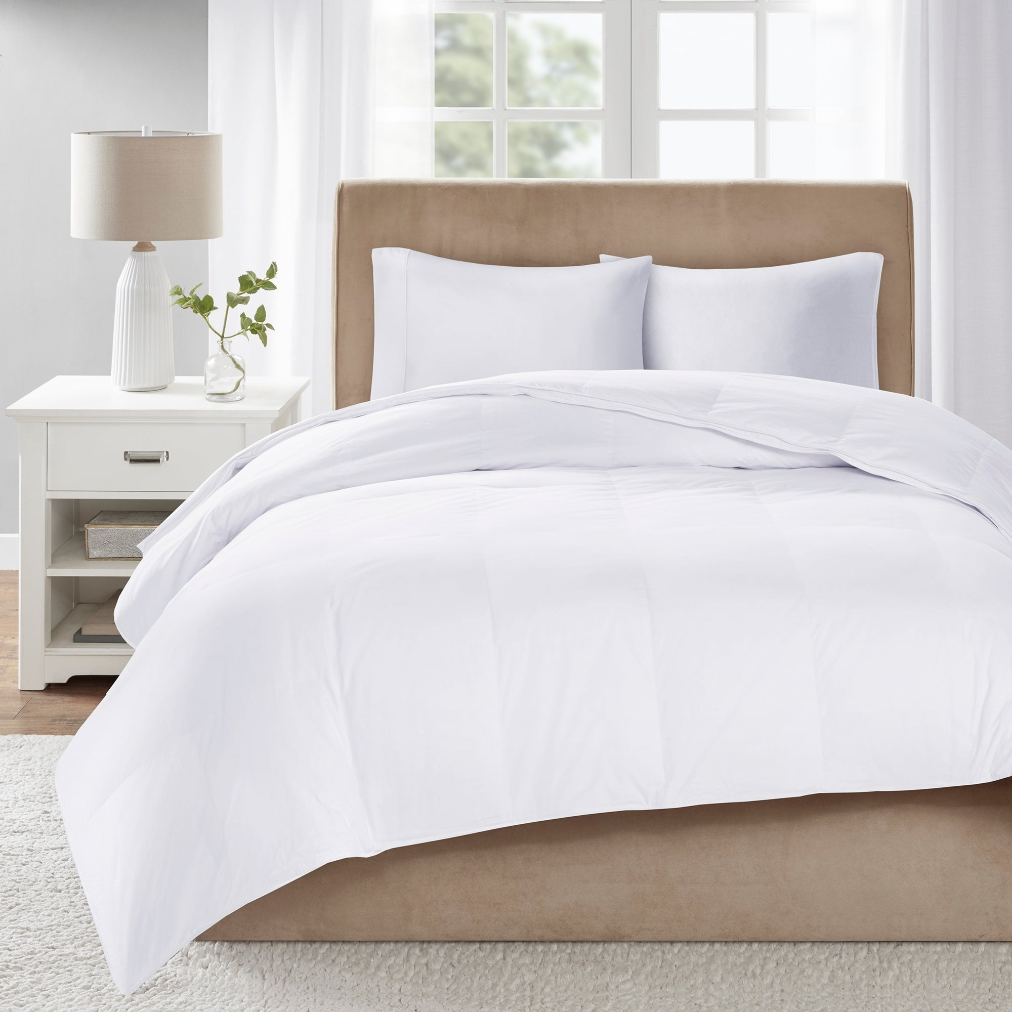 True North By Sleep Philosophy Level 3 White 300 Thread Count Cotton Sateen White Down Comforter With 3m Scotchgard On Sale Overstock 20689728