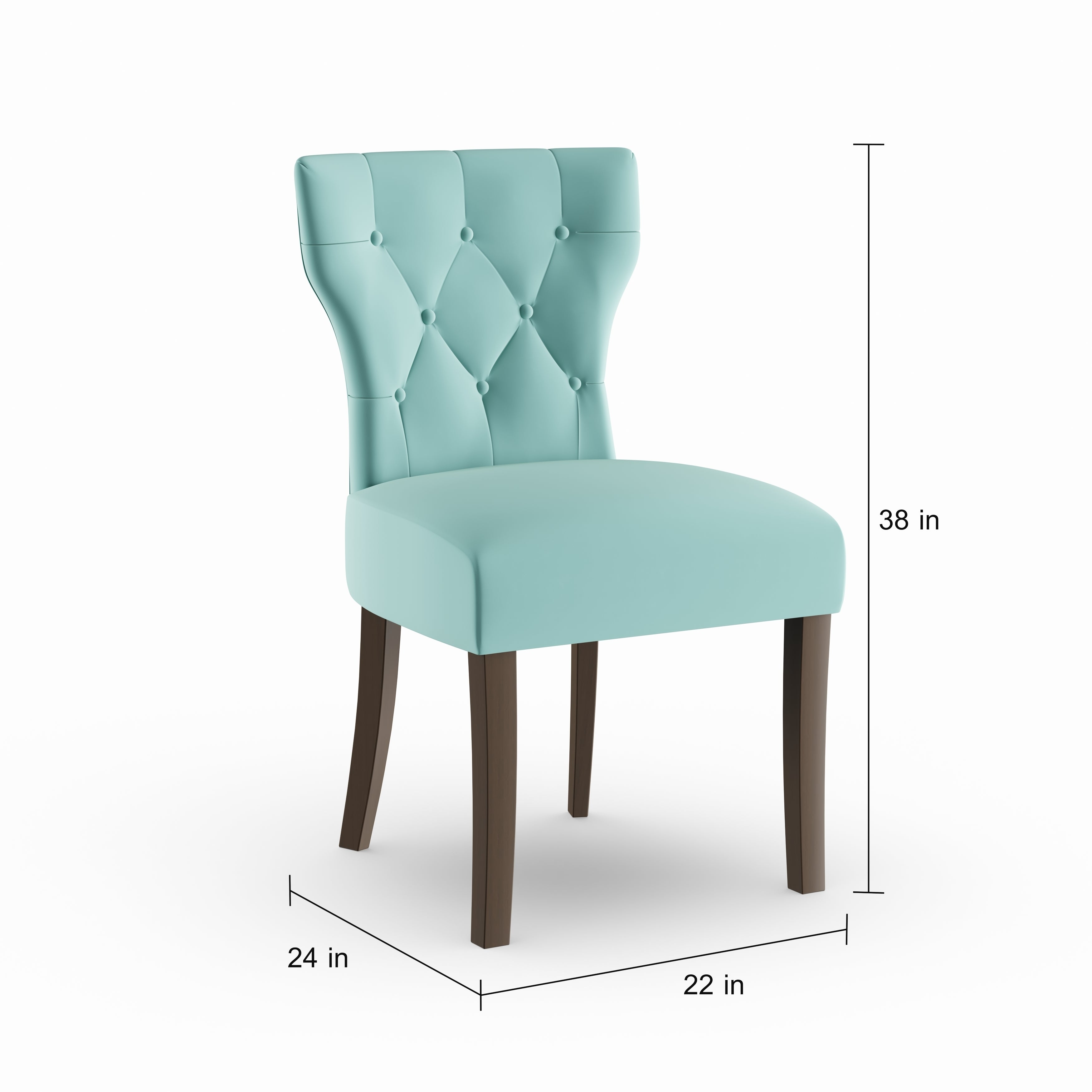 Shop Copper Grove Lagunas Deep Turquoise Blue Velvet Upholstered Armless Dining Chairs (Set of 2) - Free Shipping Today - Overstock - 20689741  sc 1 st  Overstock.com & Shop Copper Grove Lagunas Deep Turquoise Blue Velvet Upholstered ...