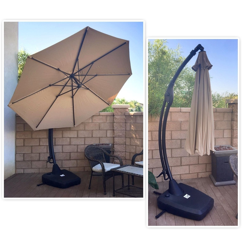 grand patio 10 ft outdoor patio umbrella with crank handle and base 10 Ft Umbrella Base