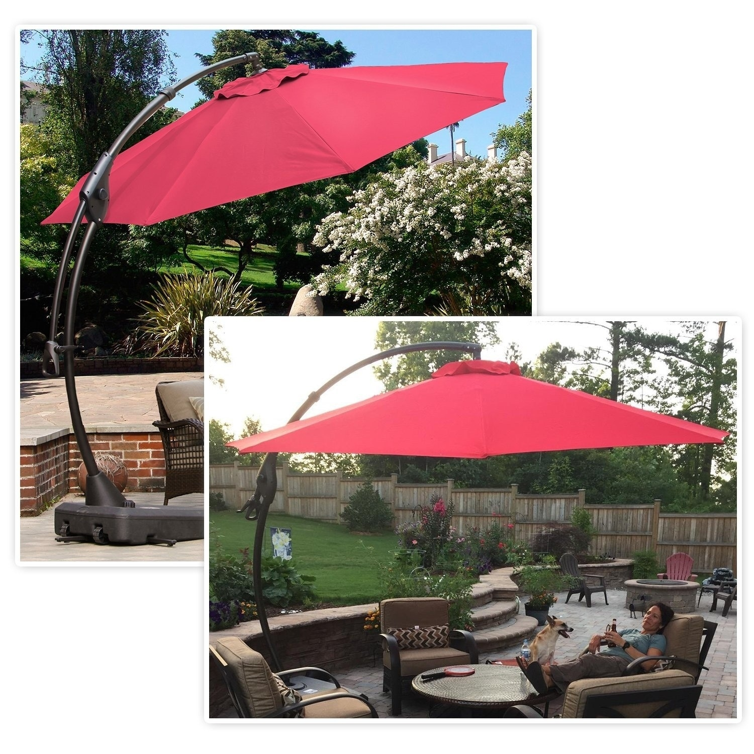 Merveilleux Shop Grand Patio Outdoor 10 FT Patio Umbrella With Crank Handle And Base    Free Shipping Today   Overstock.com   20691077