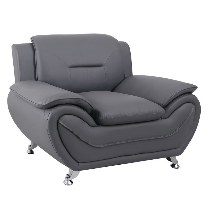 Shop Michael Segura Faux Leather Upholstered Club Chair   Free Shipping  Today   Overstock.com   20693914