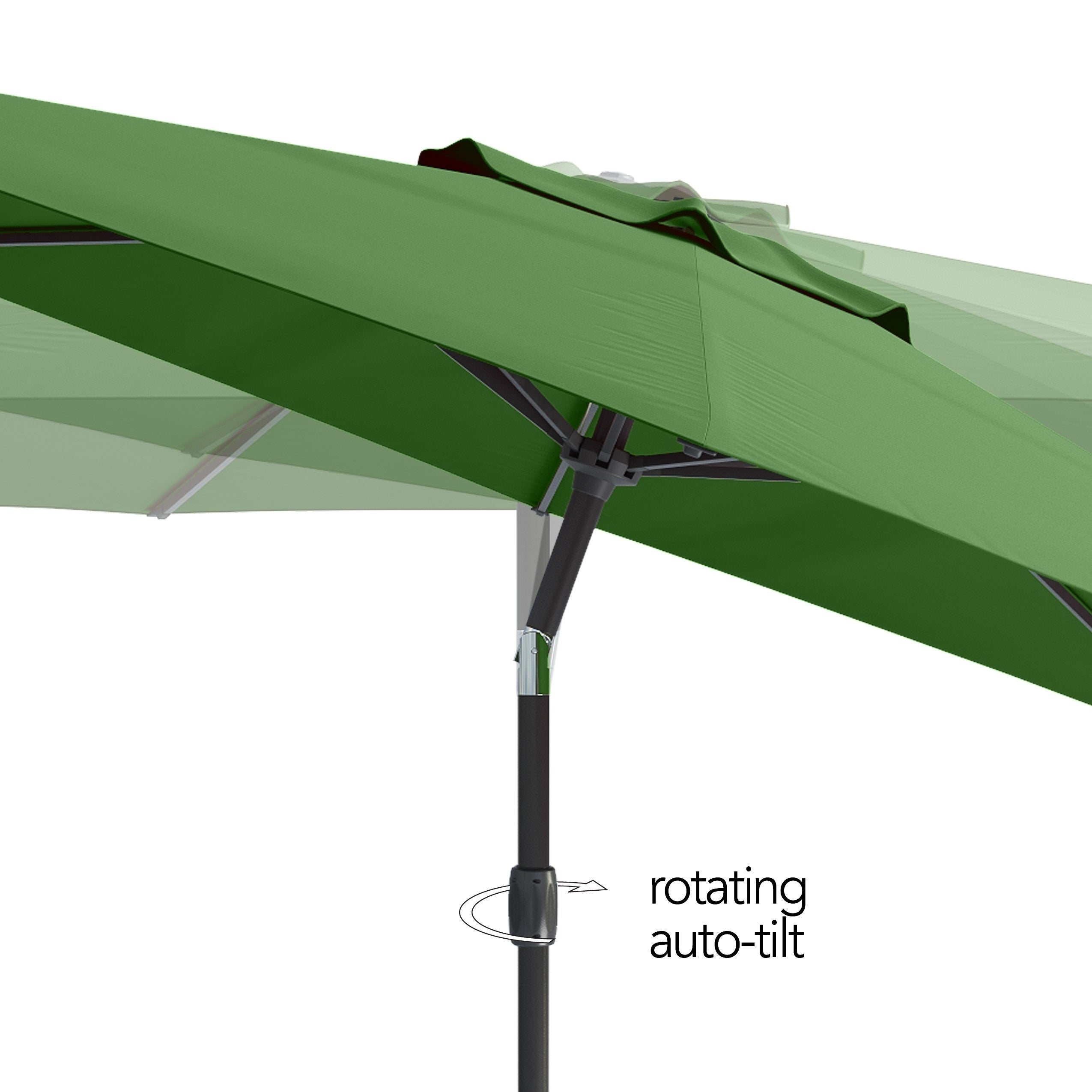 Attirant Shop CorLiving UV And Wind Resistant Tilting Patio Umbrella   Free Shipping  Today   Overstock.com   20695335