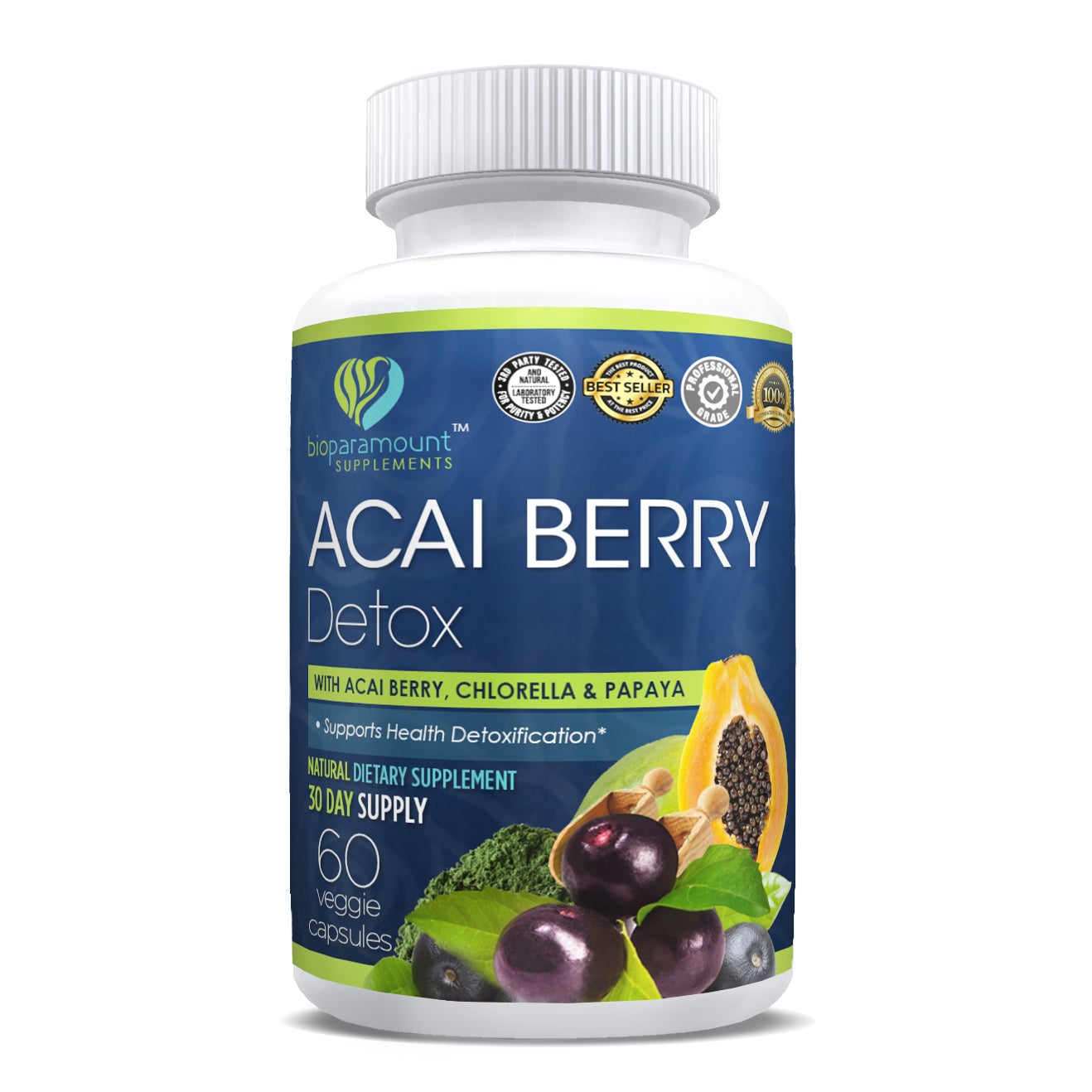 f9e08af6acfe7 Shop Bio Paramount Acai Berry Detox (60 Vegetarian Capsules) - Free  Shipping On Orders Over  45 - Overstock.com - 20698118
