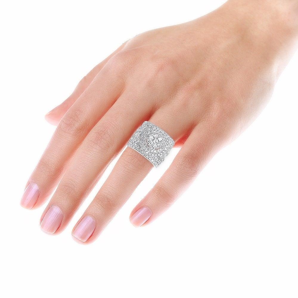 Shop 14k Gold Large 5 5ct Cluster Diamond Engagement Ring Wedding