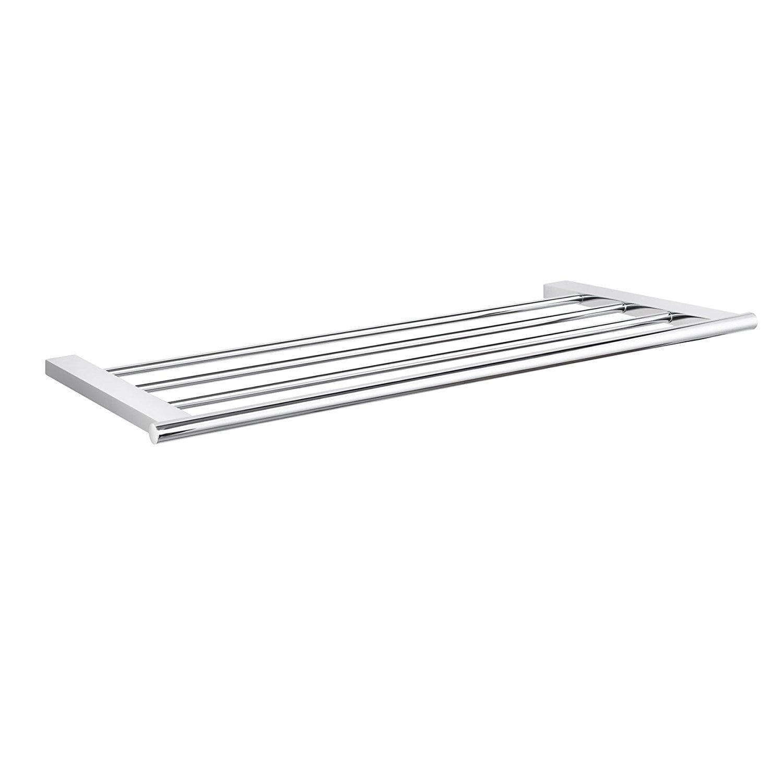 Maykke Mission Wall Mounted Towel Rack Shelf, Polished Chrome - Free ...