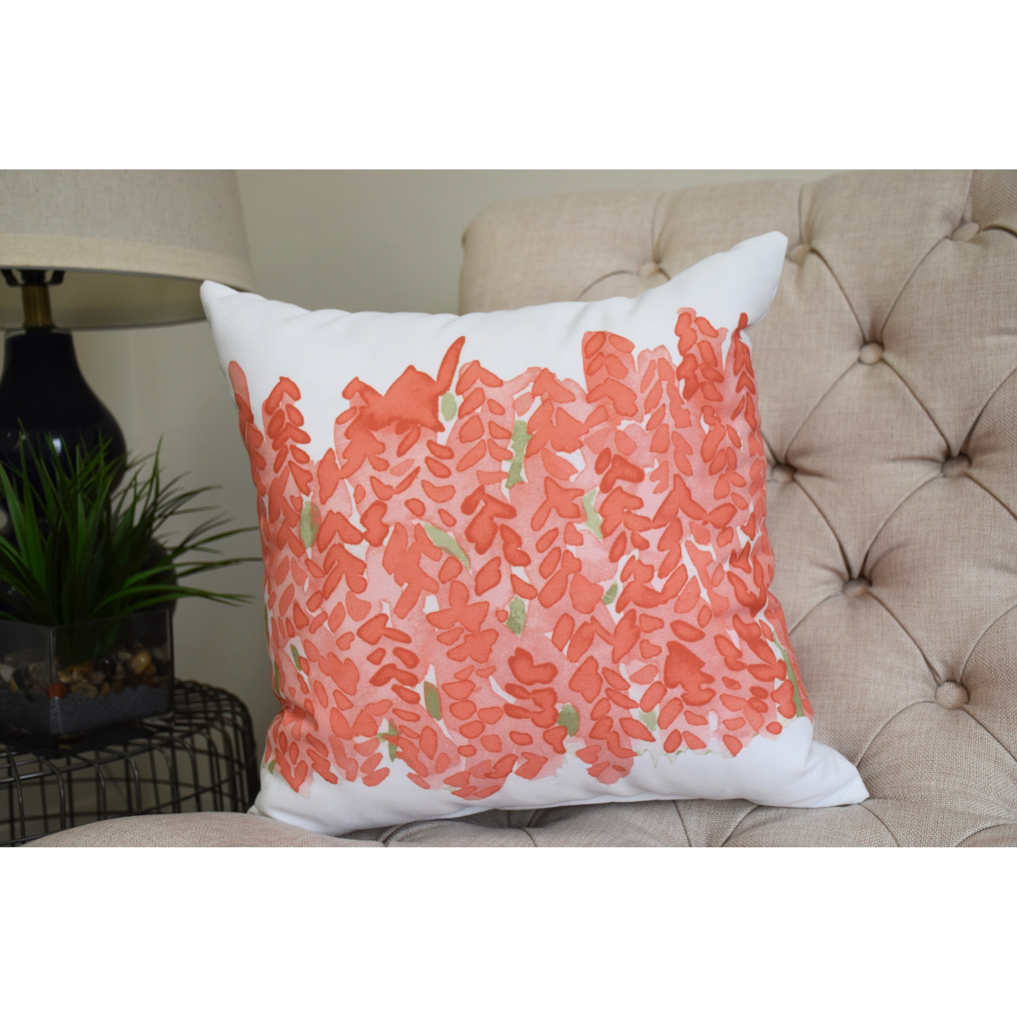 Flower Bell Bunch 16 inch Decorative Floral Throw Pillow - Free ...