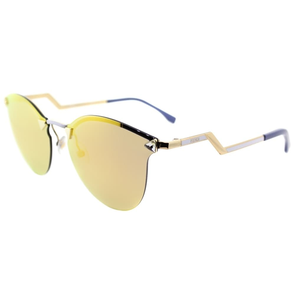 962b32265e7 Shop Fendi Cat-Eye FF 0040 Iridia JFG Womens Gold Frame Gold Mirror Lens  Sunglasses - On Sale - Ships To Canada - Overstock.ca - 20704427