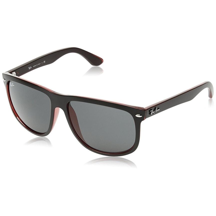3af5c337ec Ray-Ban RB4147 Men s Black Red Frame Grey Classic 56mm Lens Sunglasses