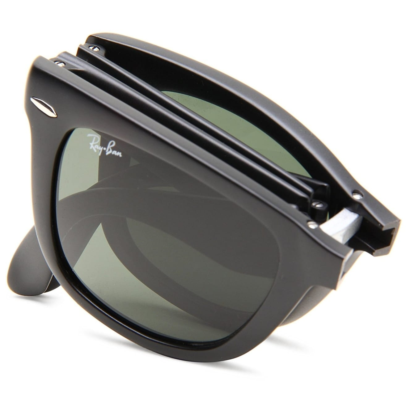 7d3edf4731 Shop Ray-Ban RB4105 Wayfarer Folding Black Frame Green Classic 50mm Lens  Sunglasses - Free Shipping Today - Overstock - 20707666