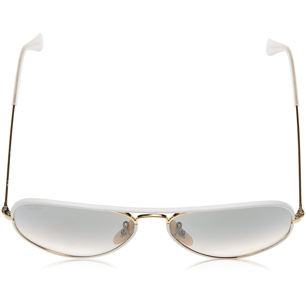 4f7fec406 Shop Ray-Ban RB3025JM Aviator Full Color White/Gold Frame Light Grey  Gradient 55mm Lens Sunglasses - Free Shipping Today - Overstock - 20707678
