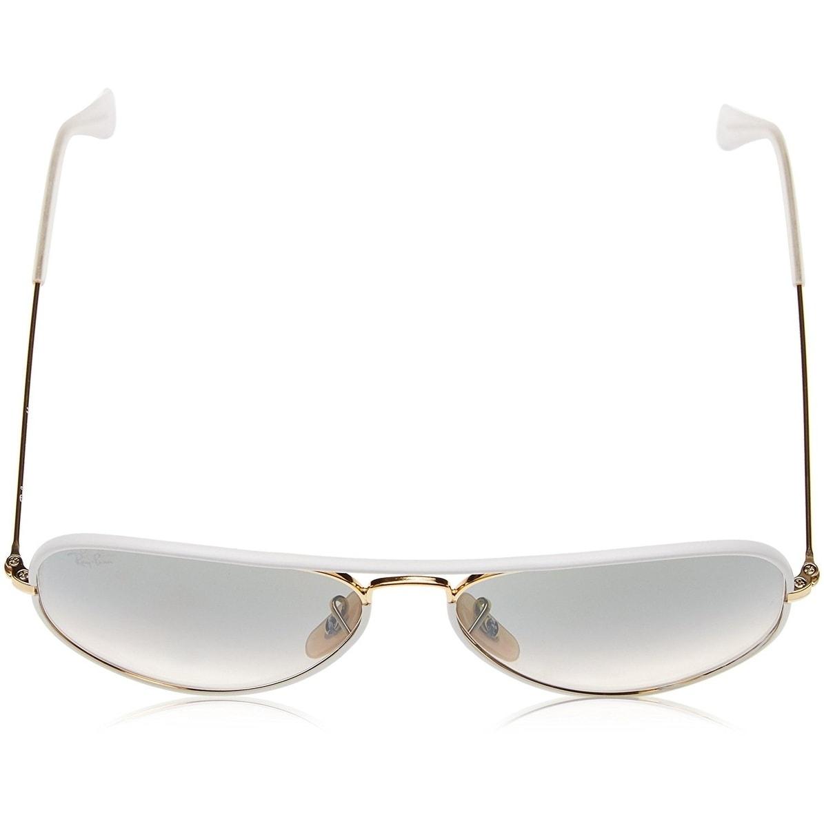 6c421873e6 ... ireland shop ray ban rb3025jm aviator full color white gold frame light  grey gradient 55mm lens