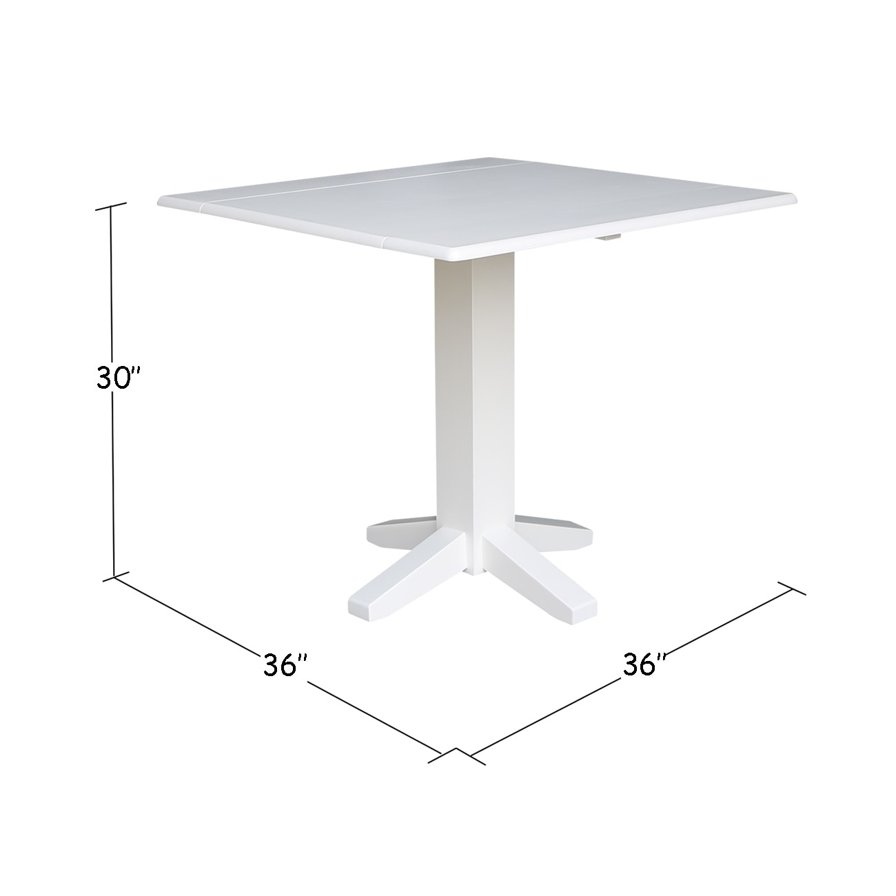 Shop Square Dual Drop Leaf Dining Table In White Free Shipping