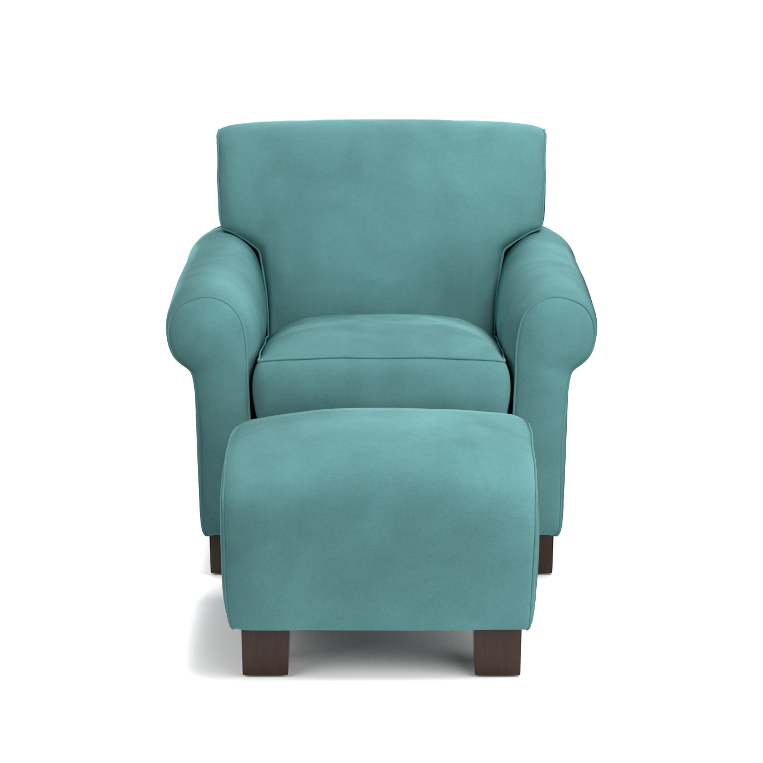 Beau Shop Handy Living Winnetka Turquoise Blue Velvet Arm Chair And Ottoman    Free Shipping Today   Overstock   20710185