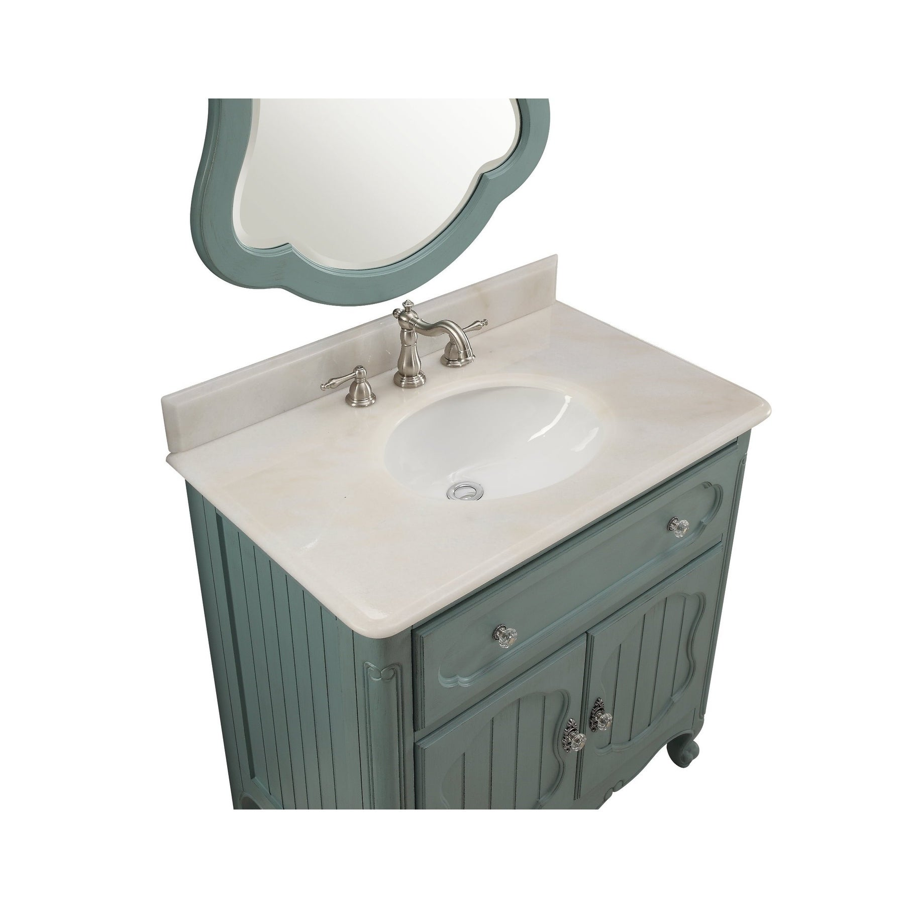 Benton Collection Knoxville Vintage Blue Bathroom Sink Vanity 34 ...