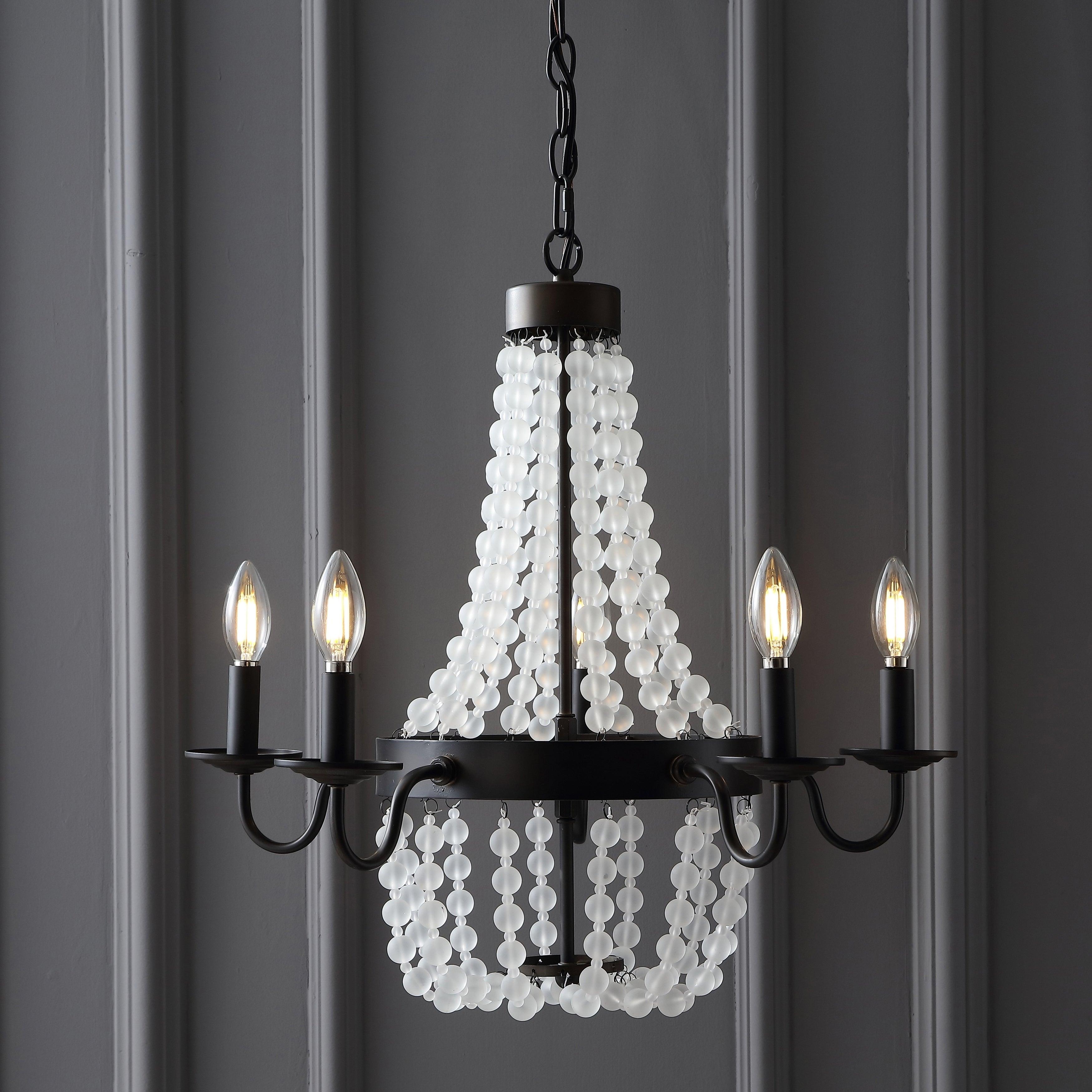 Nova 5 Light 215 Acrylic Beaded LED Chandelier