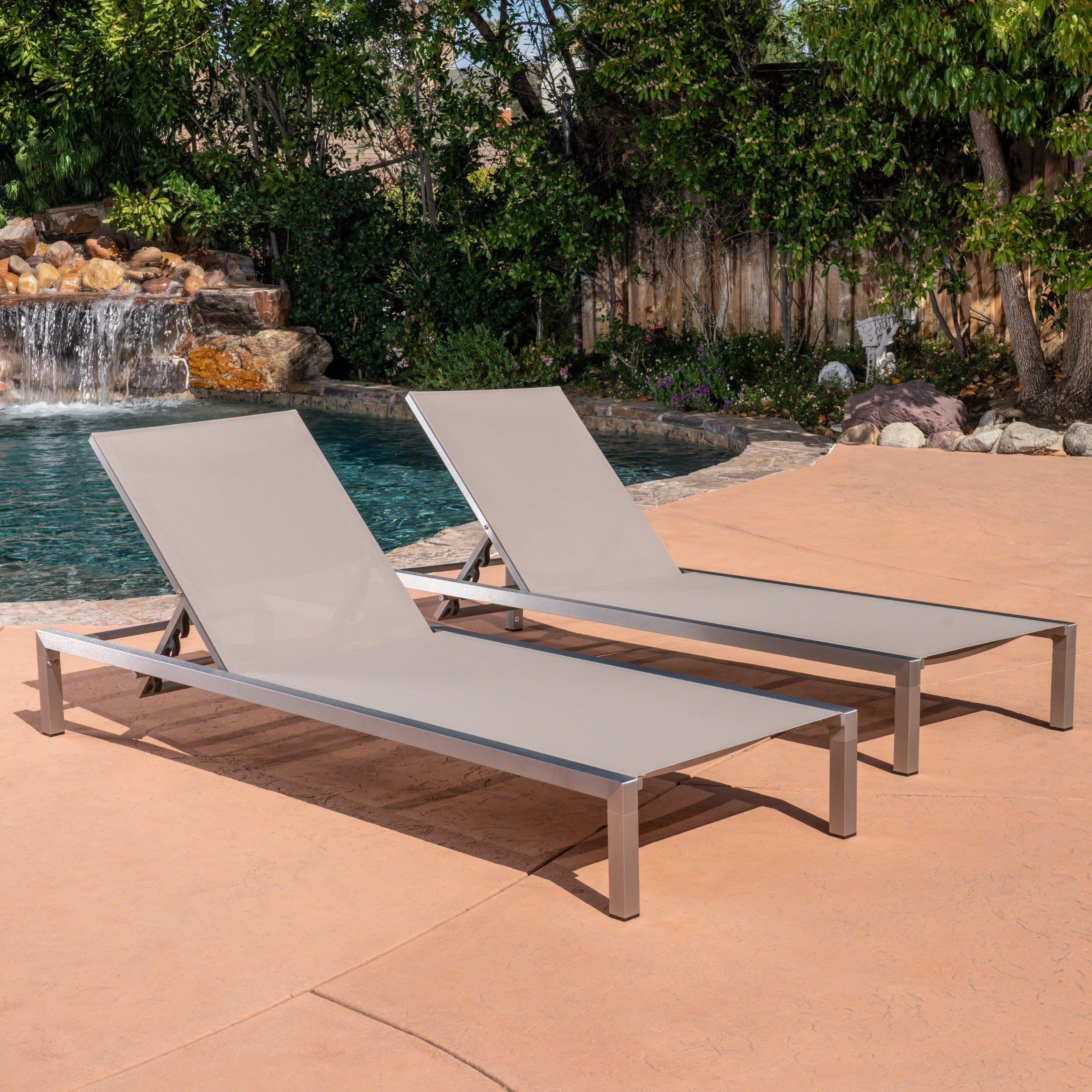 Shop Navan Outdoor Chaise Lounge (Set Of 2) By Christopher Knight Home    Free Shipping Today   Overstock.com   20713027