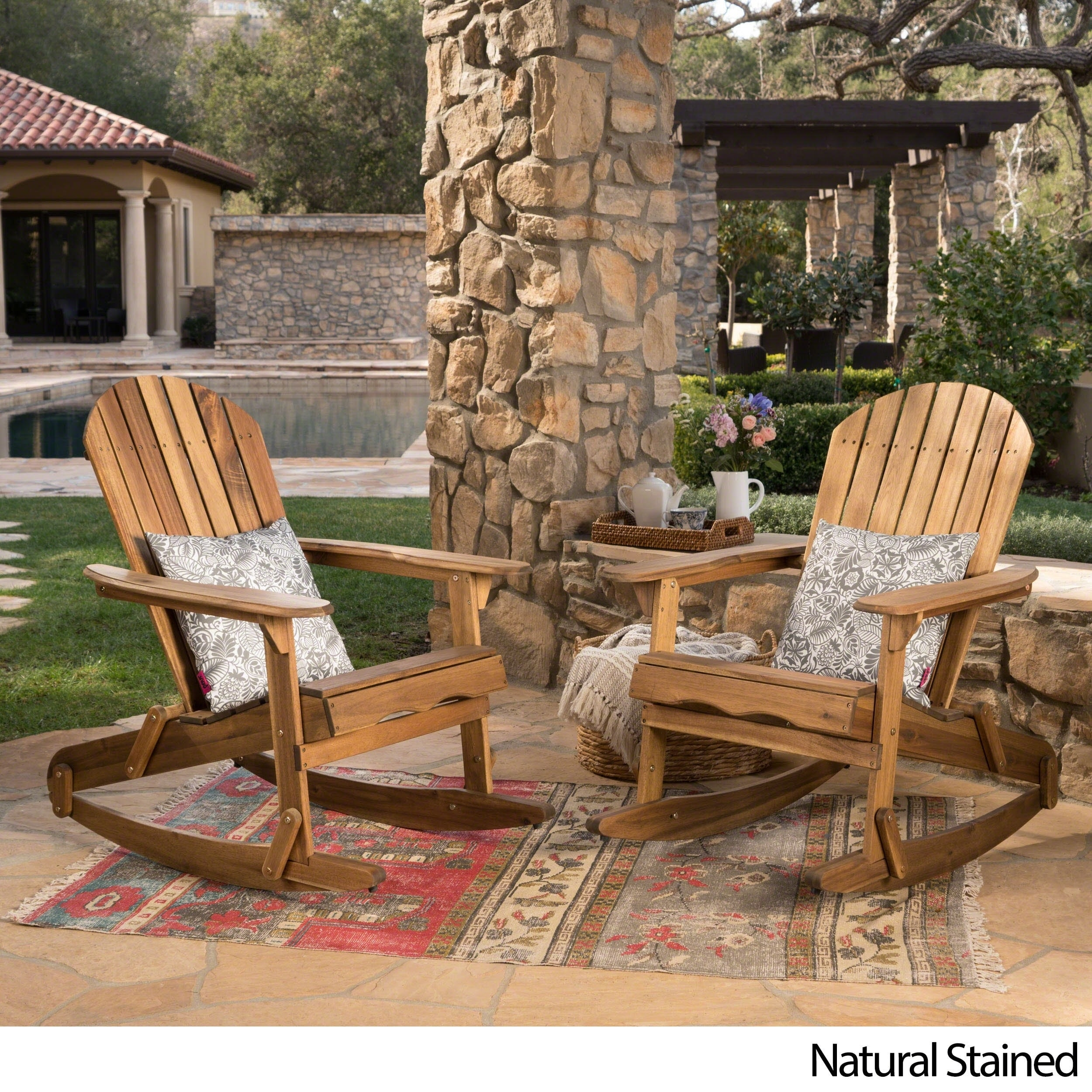 Shop Malibu Outdoor Adirondack Rocking Chair (Set Of 2) By Christopher  Knight Home   Free Shipping Today   Overstock.com   20713379