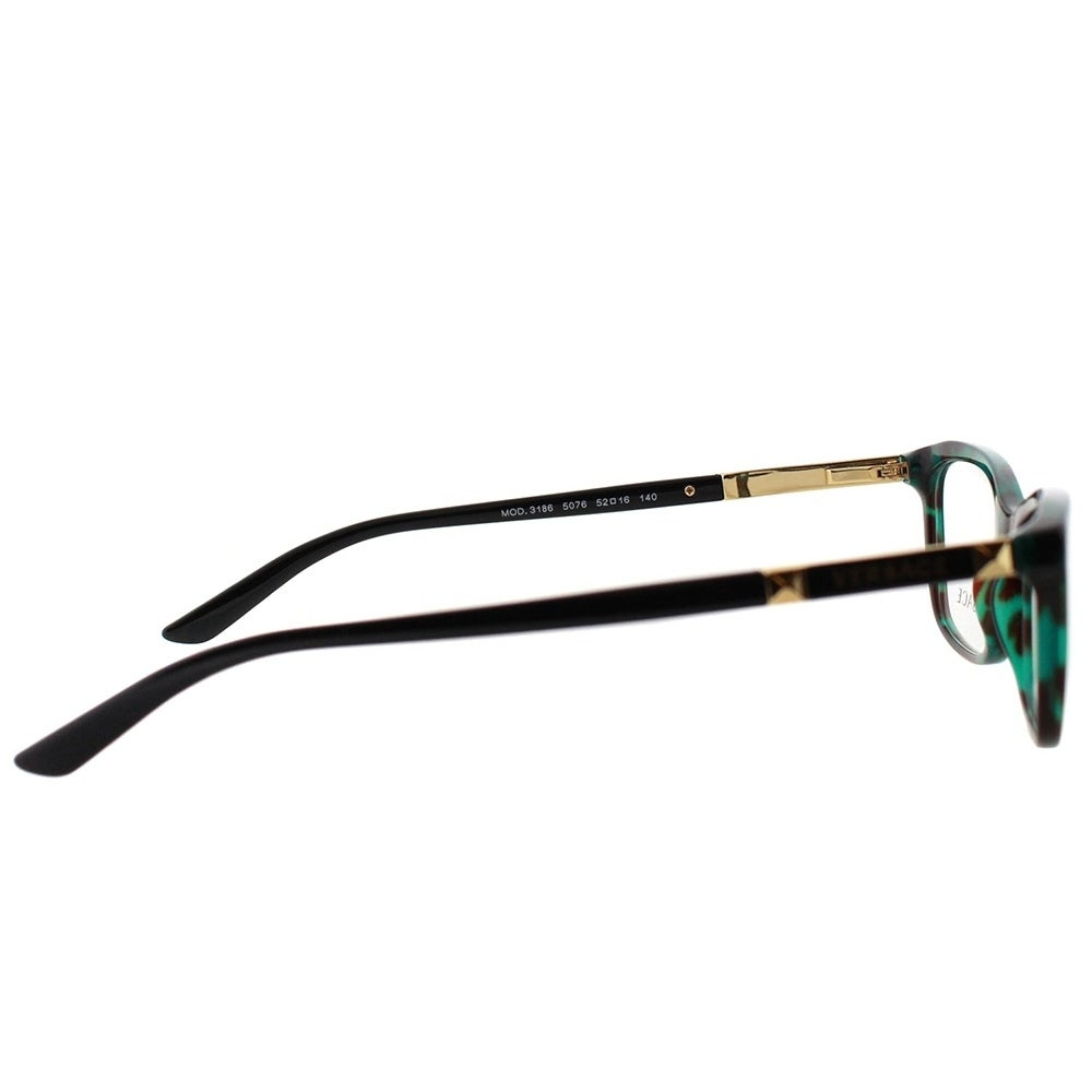 5344be9c734 Shop Versace Rectangle VE 3186 5076 Unisex Green Havana Transparent Frame  Eyeglasses - Free Shipping Today - Overstock - 20714742