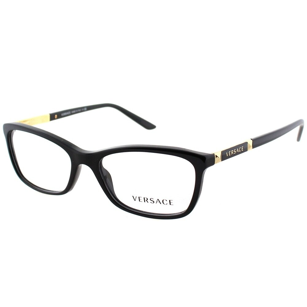7edfc86a799b Shop Versace Rectangle VE 3186 GB1 Unisex Black Frame Eyeglasses ...