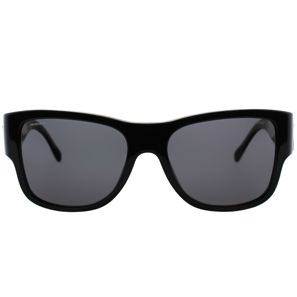 627850a150 Shop Versace Square VE 4275 GB1 81 Unisex Black Frame Grey Polarized Lens  Sunglasses - Free Shipping Today - Overstock - 20714766