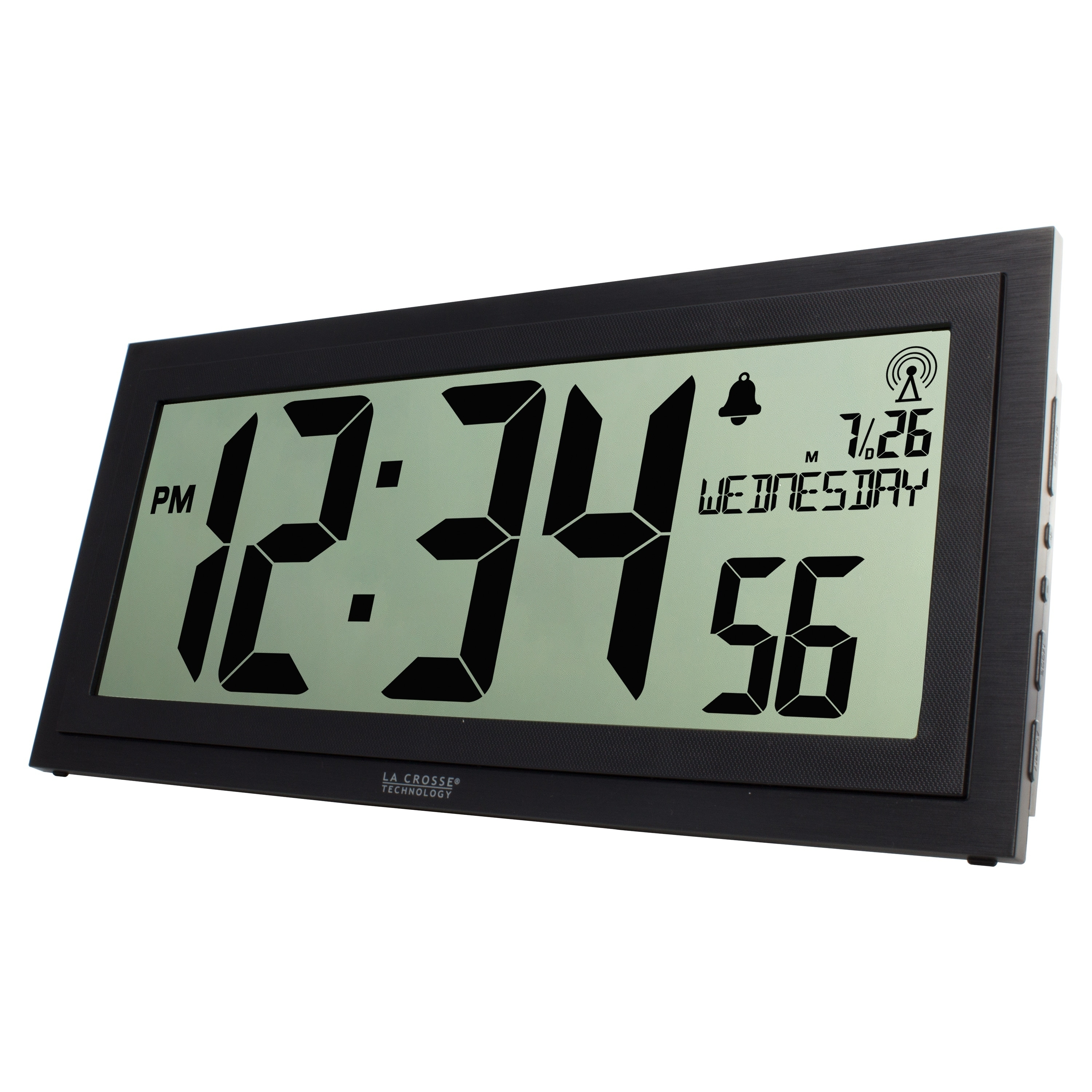 La Crosse Technology Bbb87276 15 Inch Textured Atomic Digital Wall Clock Free Shipping Today 20715955